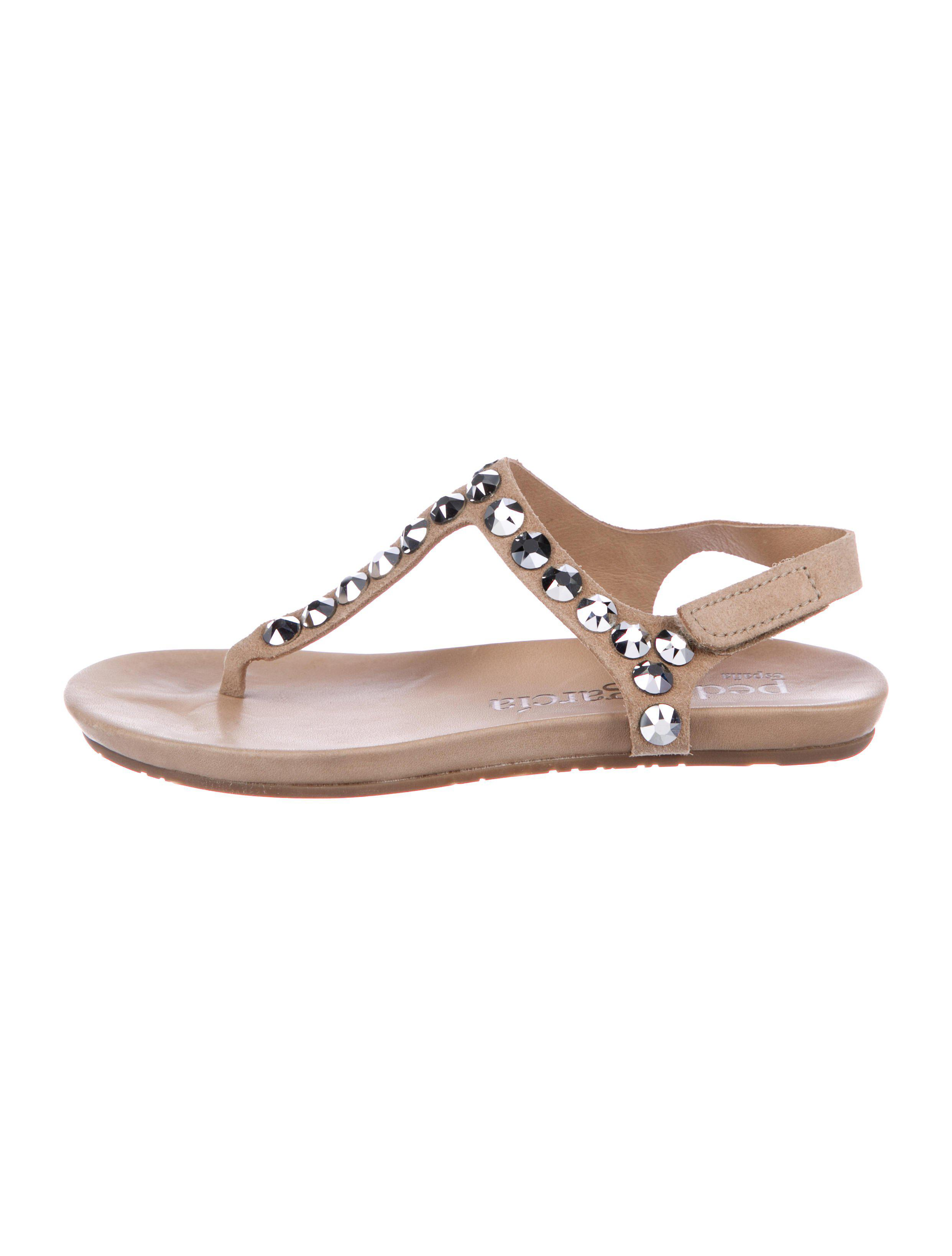 afbdc369c12eca Lyst - Pedro Garcia Suede Embellished Sandals Tan in Natural