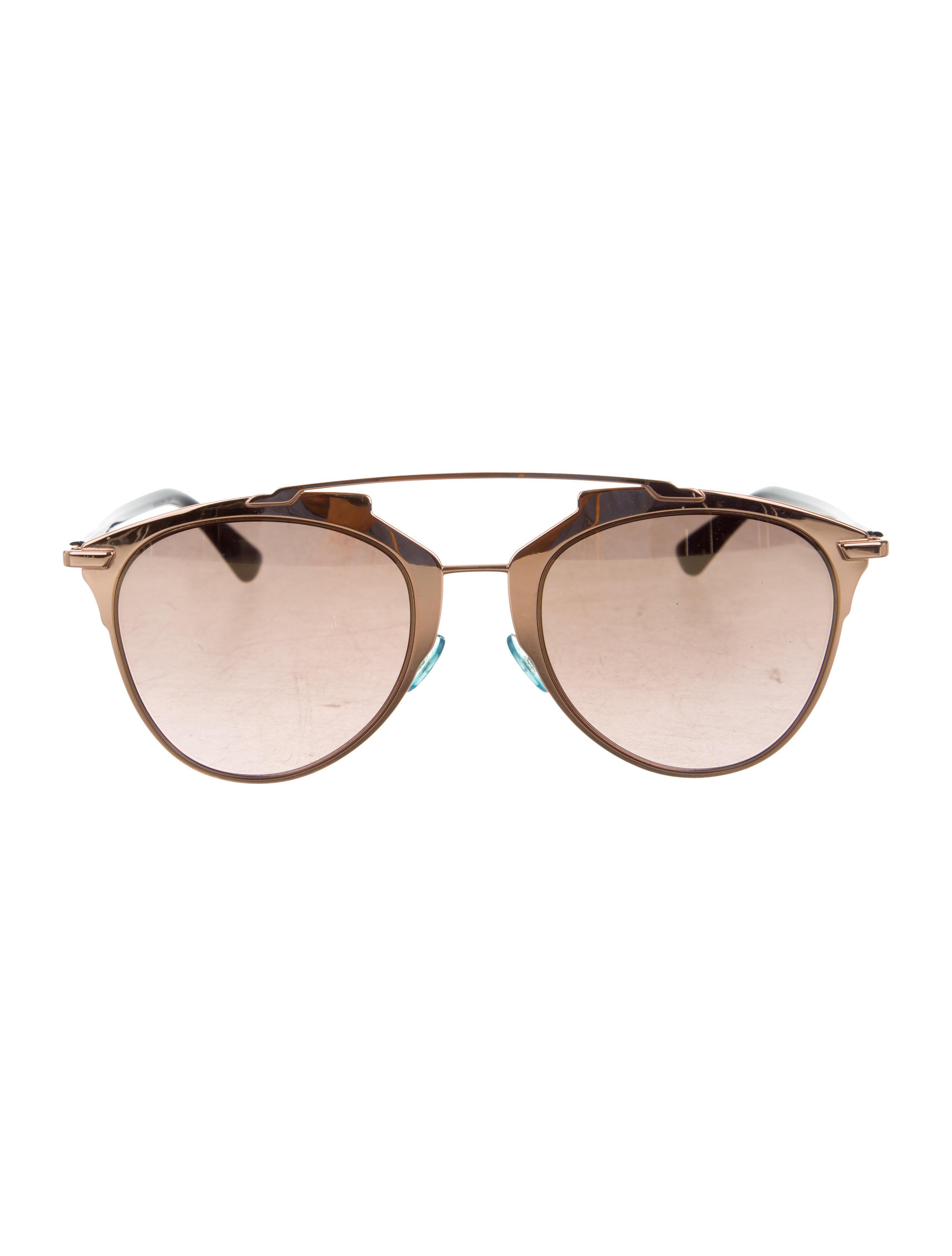 11511e6fc279c Lyst - Dior Reflected Mirrored Sunglasses Rose in Metallic