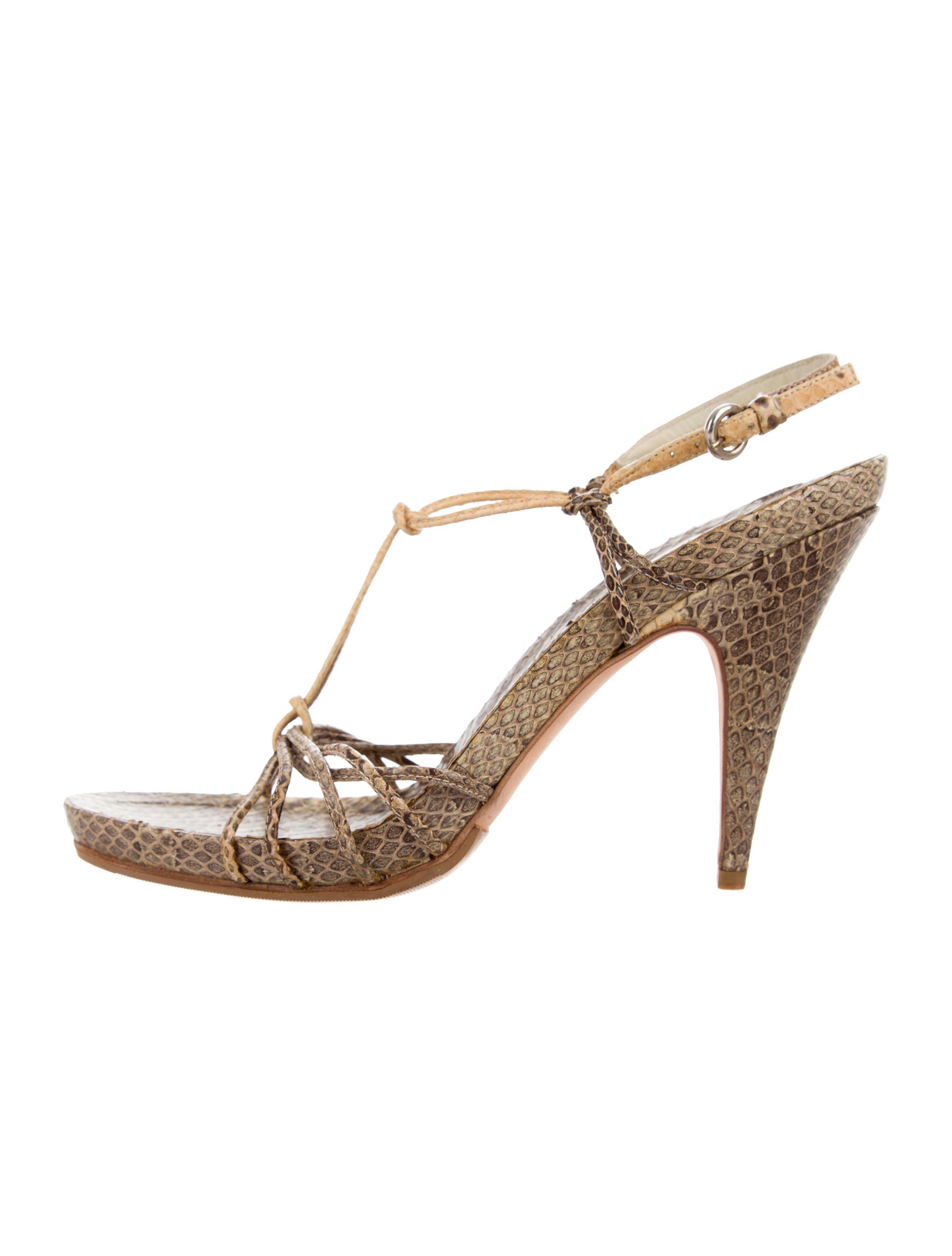 Miu Miu Snakeskin T-Strap Sandals for sale R5kBKID2A
