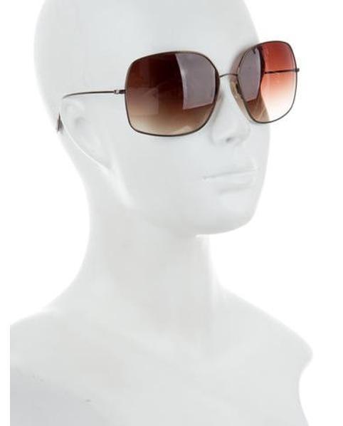 6d68f06c8a76b Oliver Peoples - Metallic Square Oversize Sunglasses Brass - Lyst. View  fullscreen