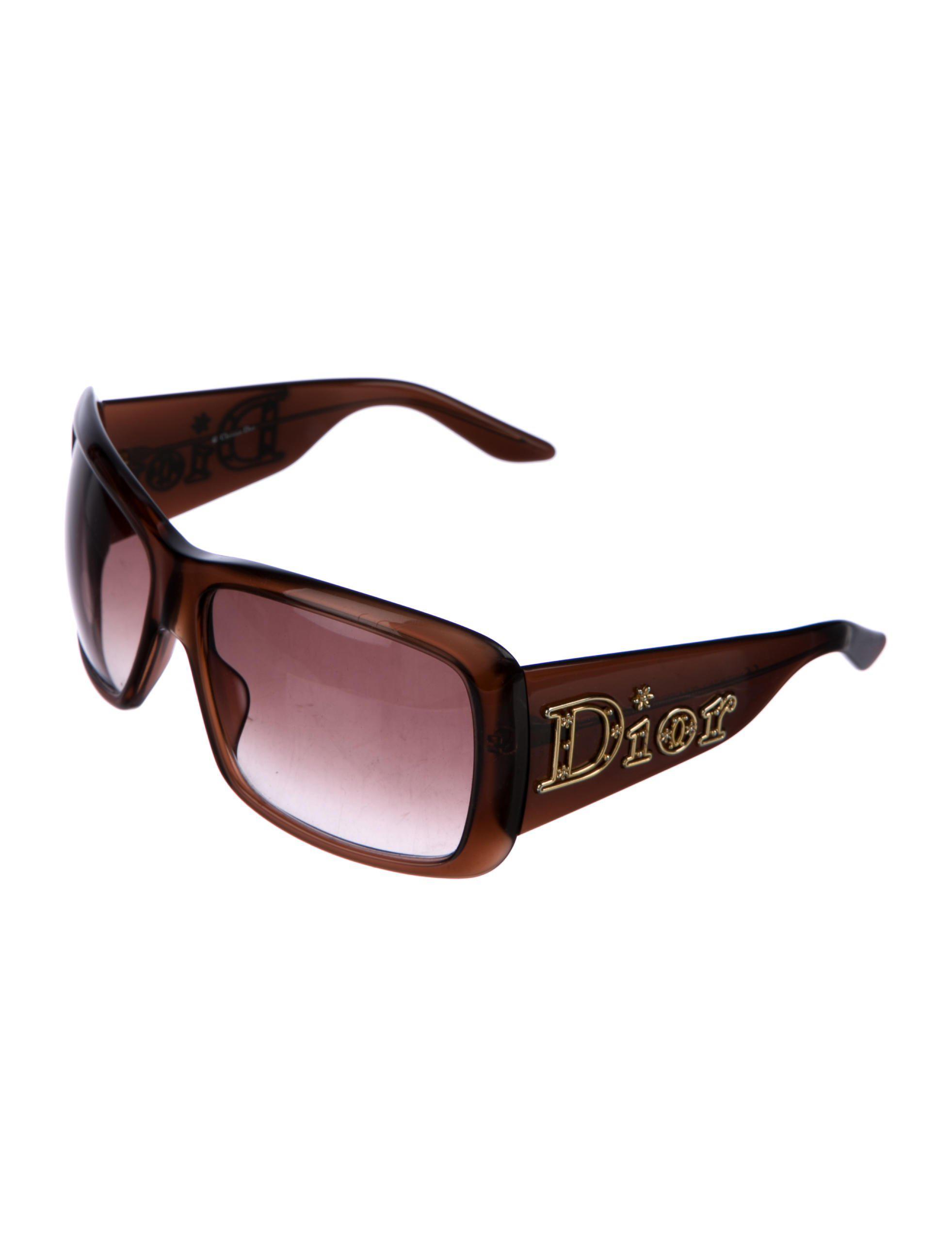 854135f113 Lyst - Dior Homme Christian Aventura Square Sunglasses Brown in Metallic
