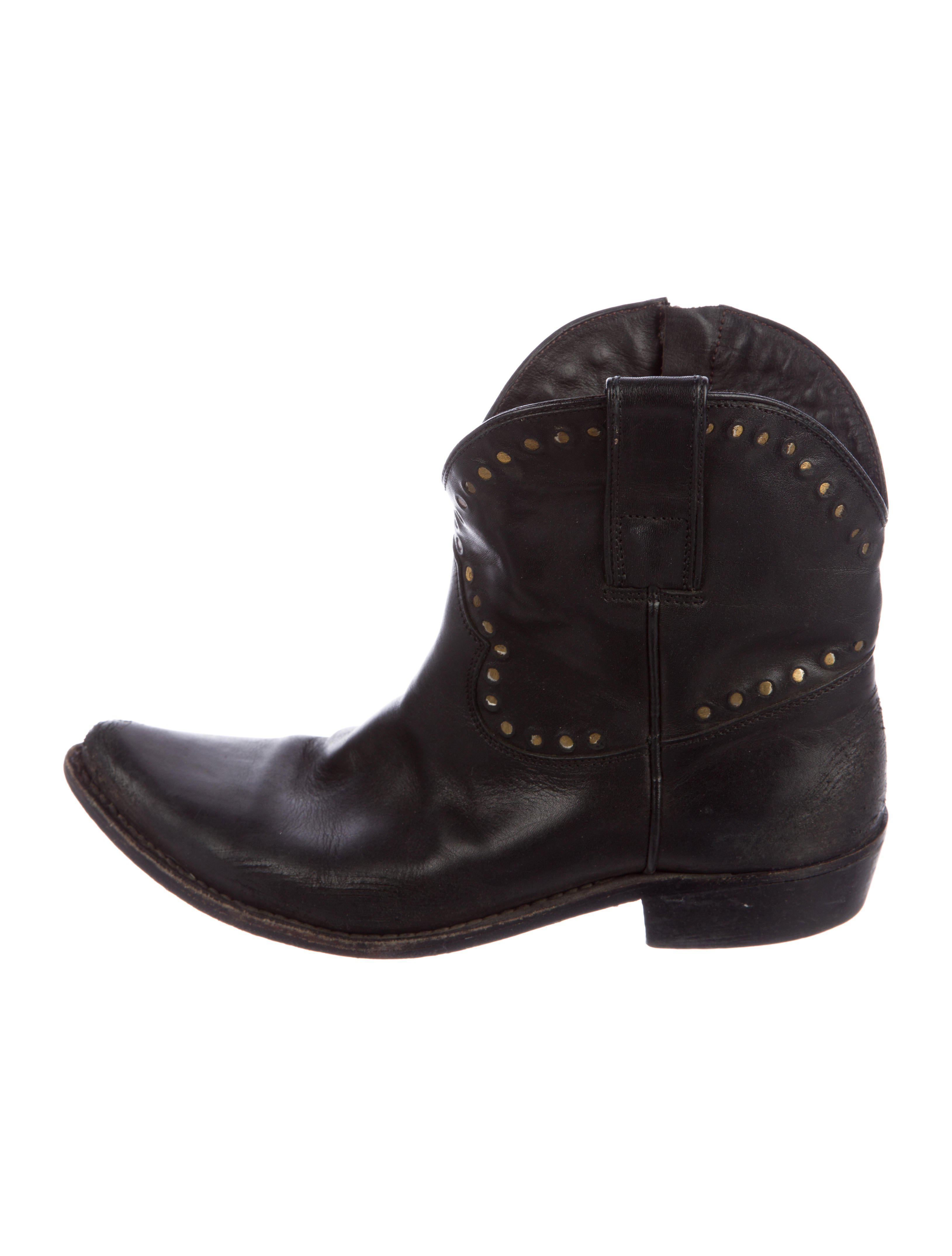 Golden Goose Leather Round-Toe Ankle Boots w/ Tags cheap great deals shop offer vhML5
