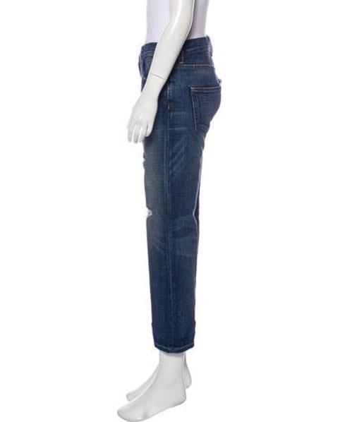 79f975fffd90f1 Current/Elliott - Blue Destroy Mid-rise Boyfriend Jeans - Lyst. View  fullscreen