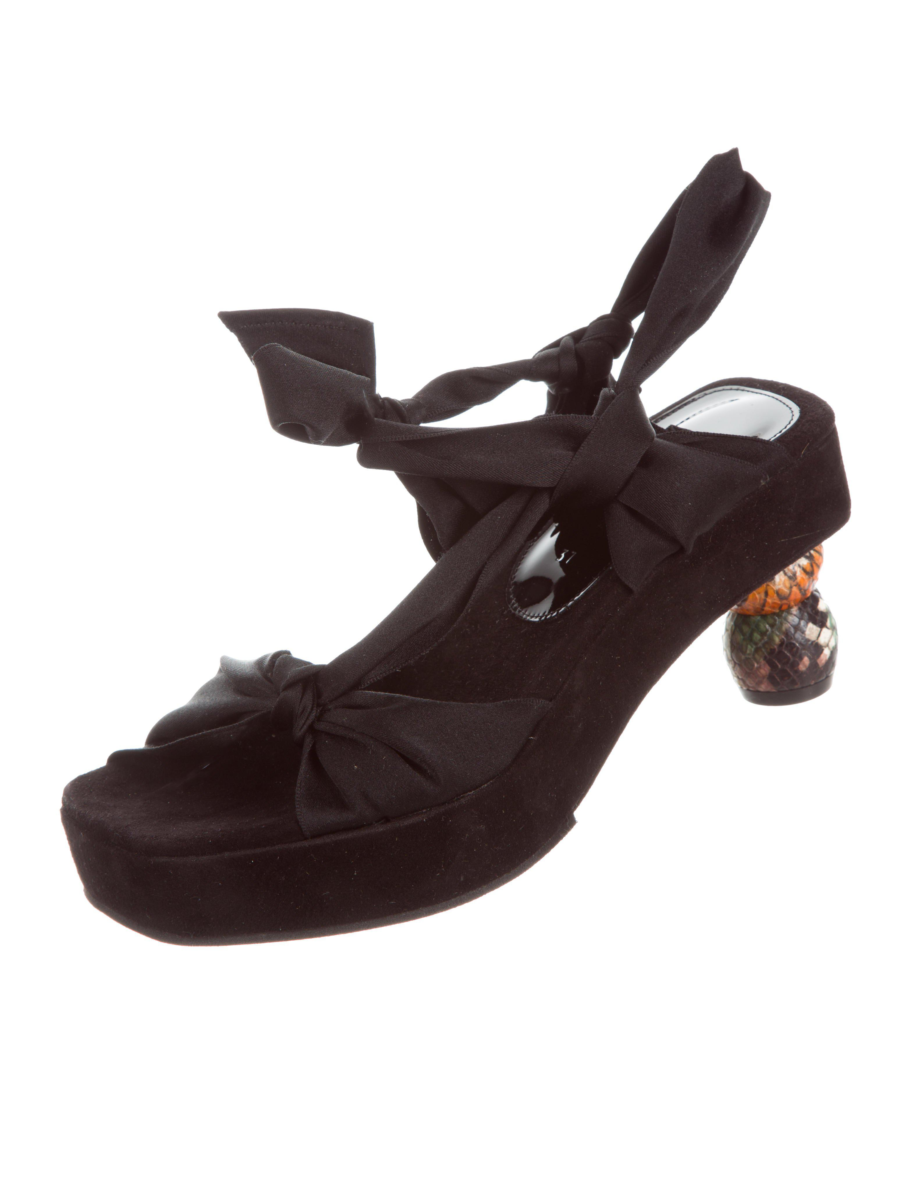 sast cheap online Dries Van Noten Satin Platform Sandals w/ Tags sale online cheap discount countdown package outlet pre order q8ct5T