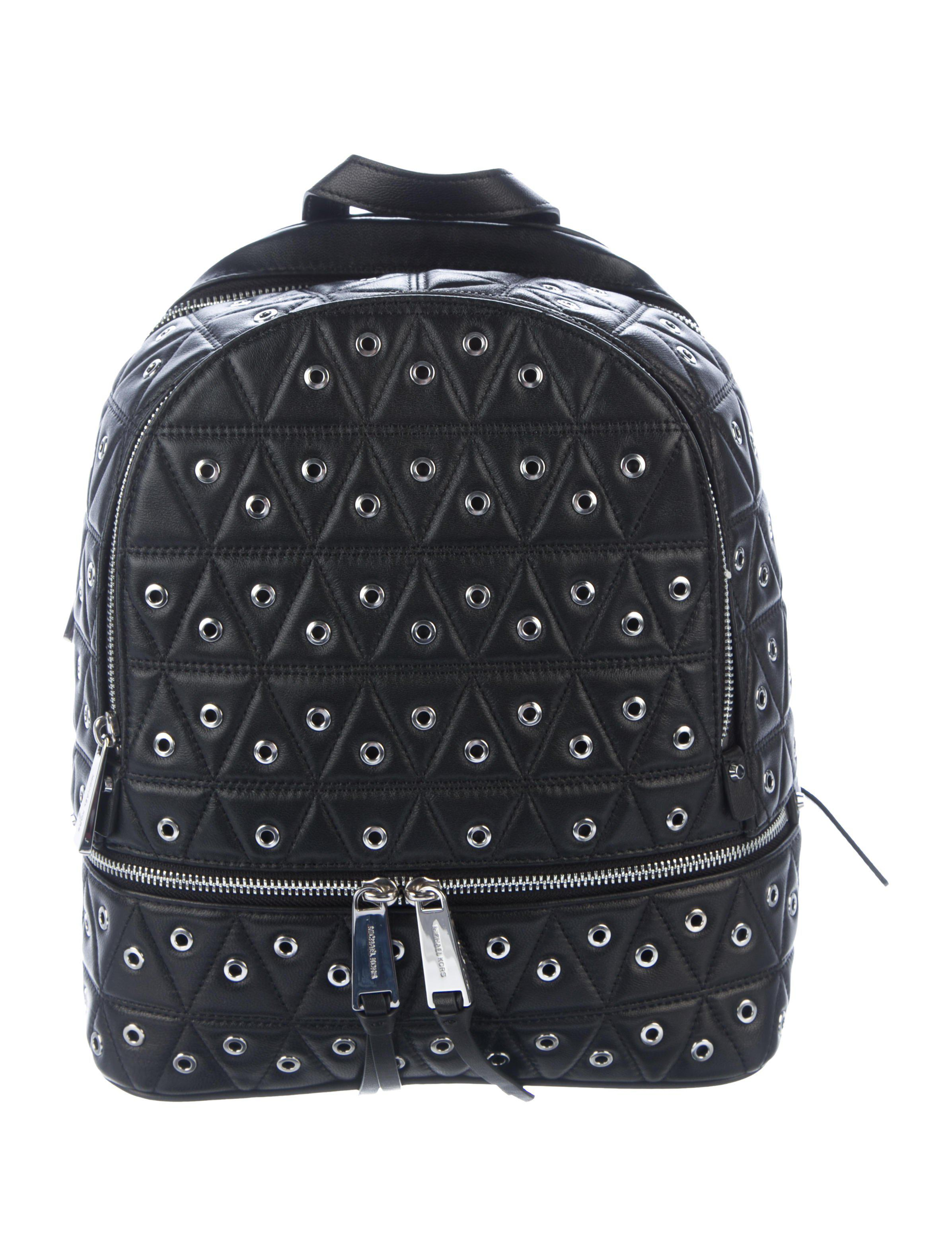 d9586e299594 MICHAEL Michael Kors. Women s Metallic Michael Kors Rhea Medium Grommet Zip  Backpack ...