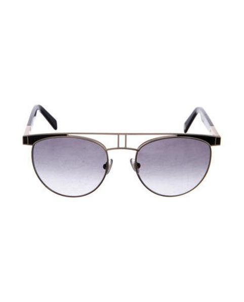 42779c35e3d5c Lyst - Balmain Round Gradient Sunglasses Gold in Metallic