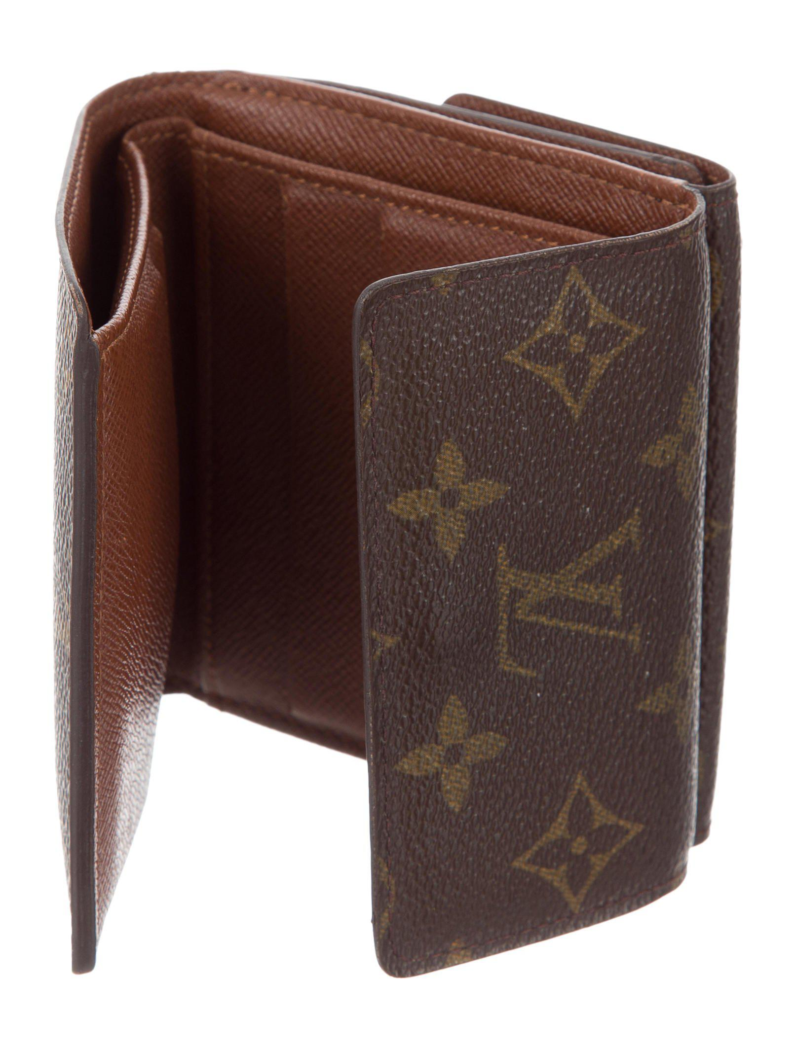 35af6187e51c Lyst - Louis Vuitton Monogram Elise Wallet Brown in Natural