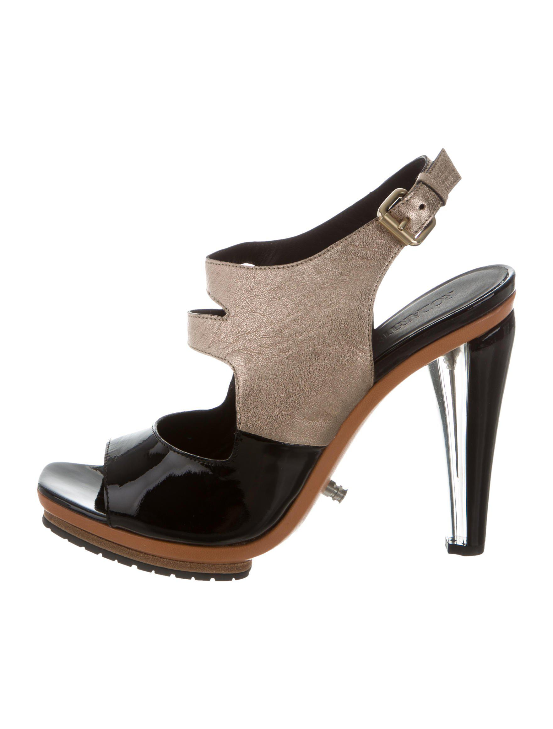 Rodarte Leather Slingback Wedges w/ Tags extremely for sale bT8Ymx