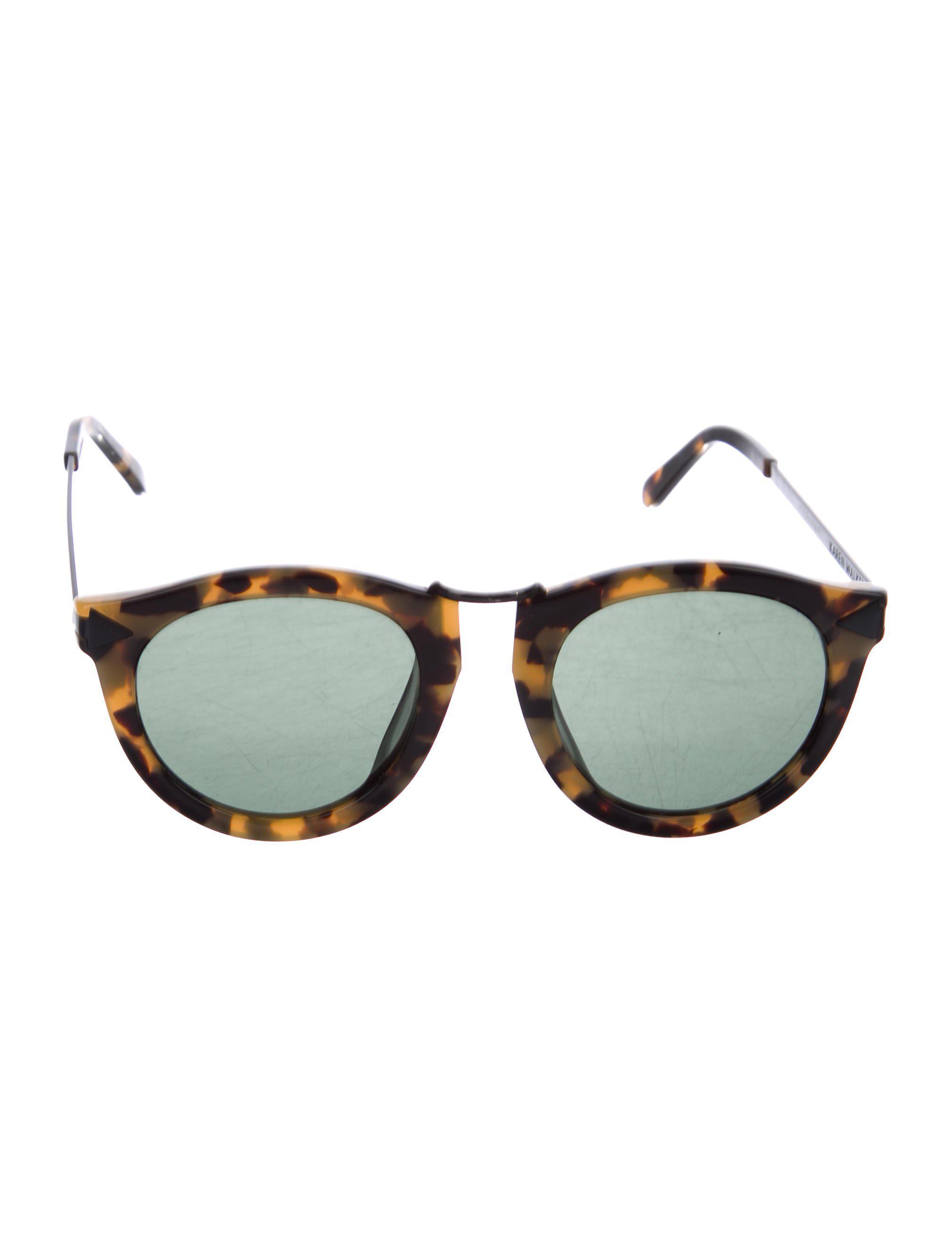 7e3ab8a0cc3b Lyst - Karen Walker Harvest Tinted Sunglasses in Brown
