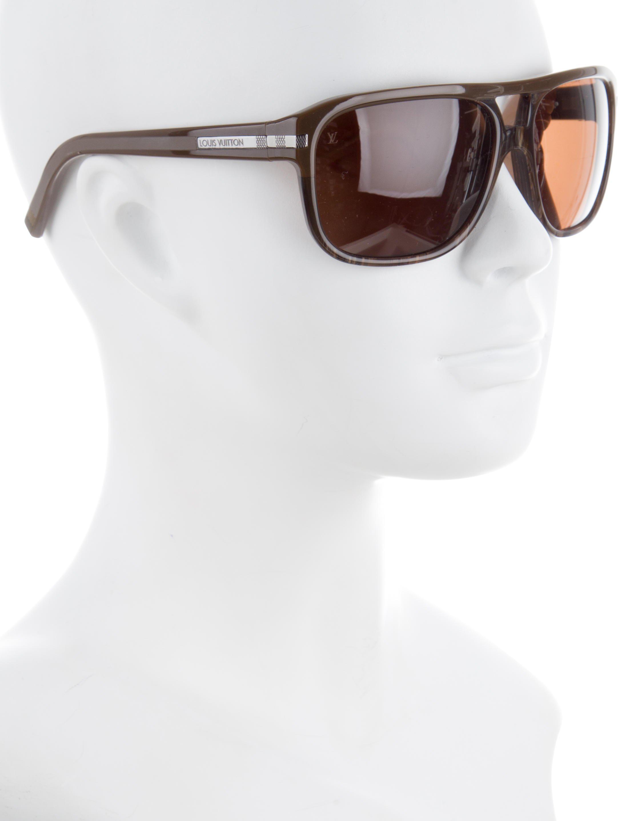 ef6bfb610524 Lyst - Louis Vuitton Possession Pilote Sunglasses Brown in Metallic