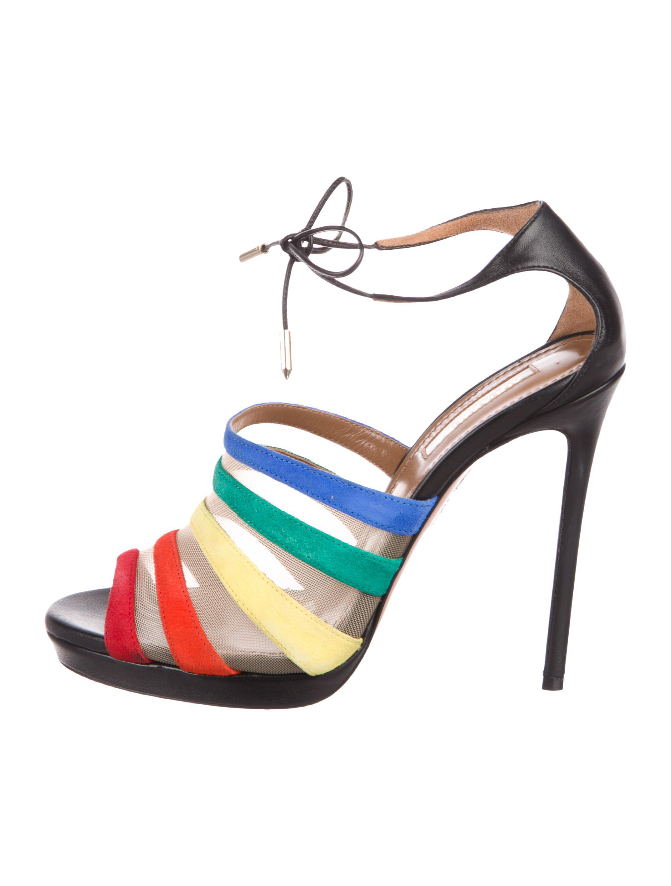 Aquazzura Graphic Suede Sandals clearance looking for 100% original cheap online the cheapest cheap online clearance high quality 29j2Zuh