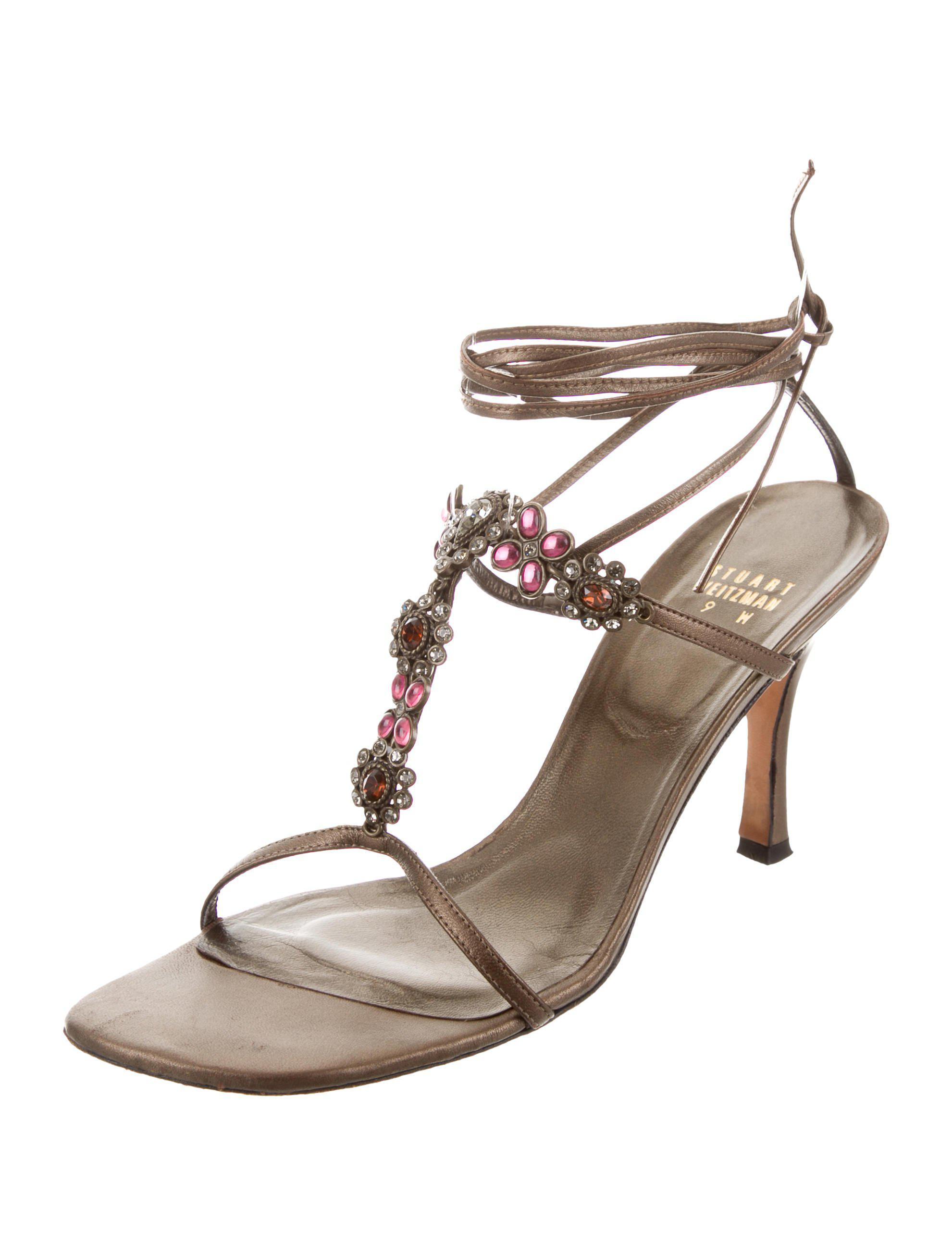 buy cheap tumblr Stuart Weitzman Embellished Wrap-Around Sandals sale collections for cheap buy cheap for sale ncEoFILds3