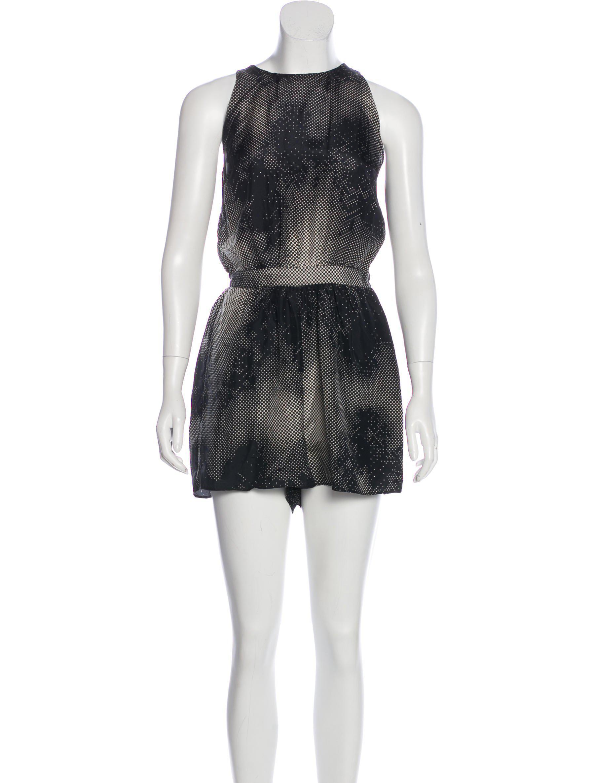 b24b2dcfb7 Lyst - Zimmermann Sleeveless Silk Romper in Black