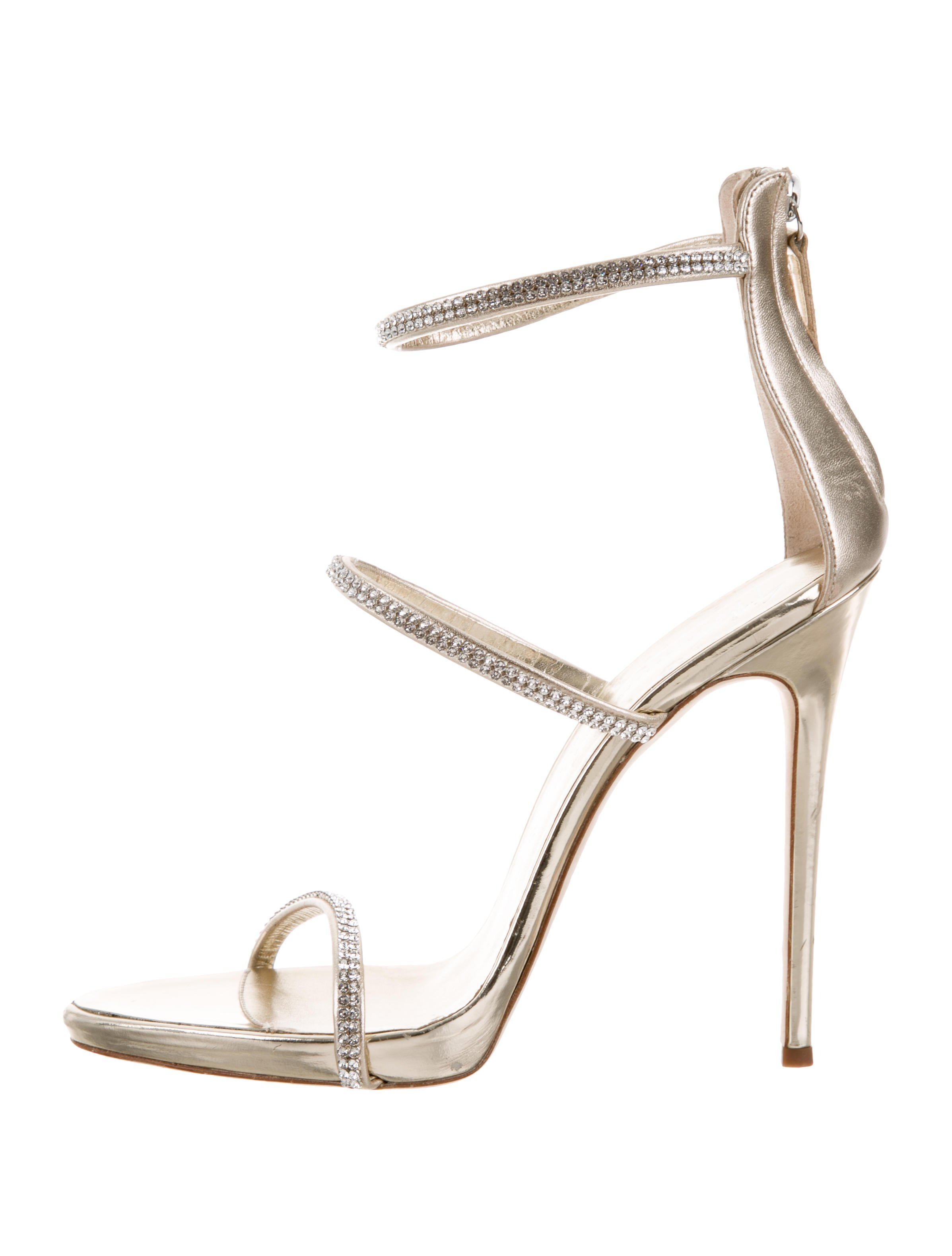 c9f0aefd8ce6 Giuseppe Zanotti. Women s Metallic Coline 110 Embellished Leather Sandals