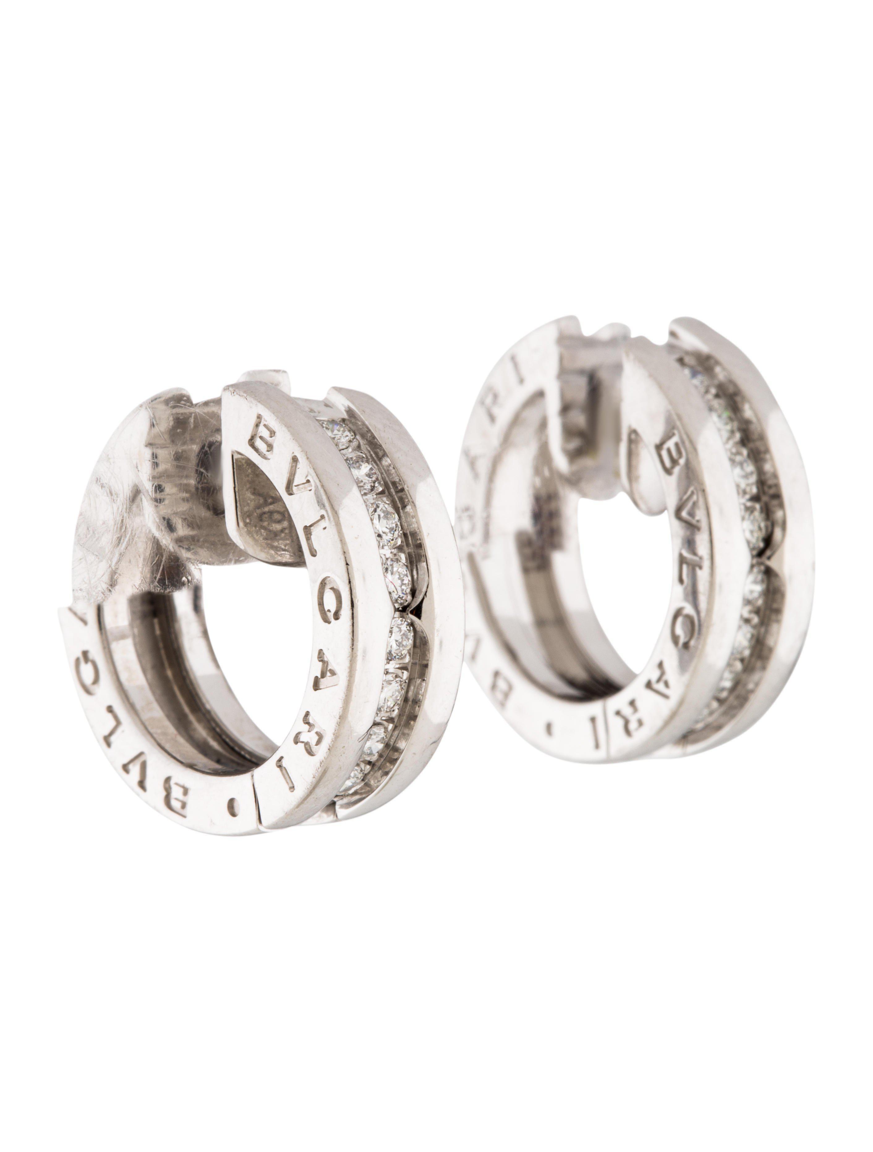 Bvlgari Estate 18k Two-Tone Half Hoop Earrings PSgumUW