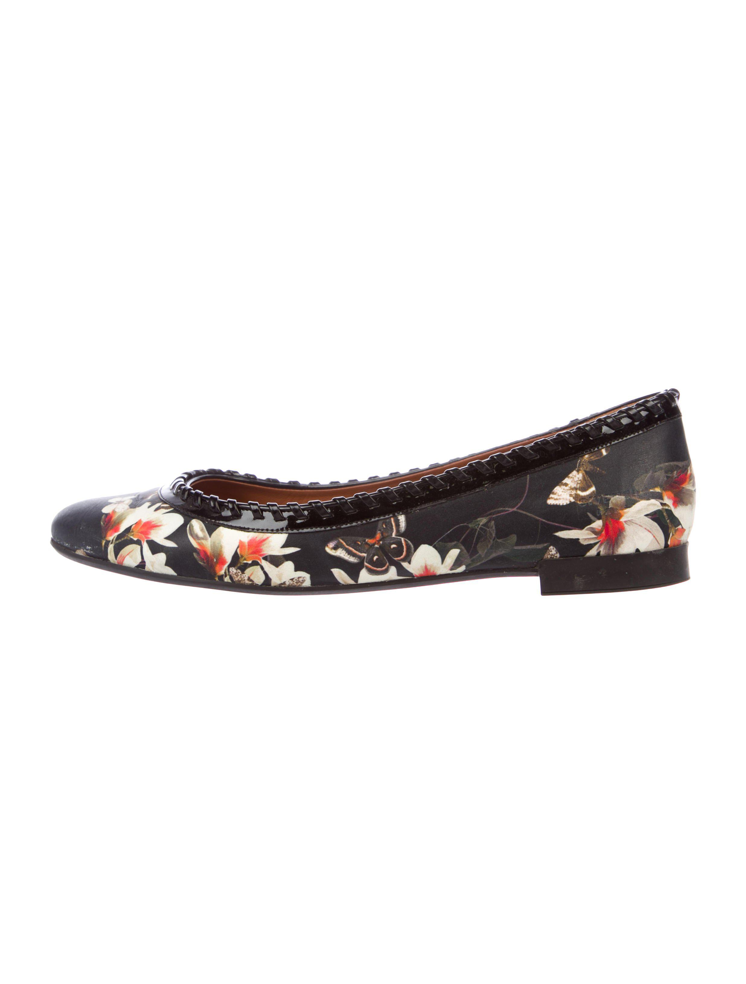 under $60 Givenchy Butterfly Magnolia Leather Flats clearance best store to get 7E1V1