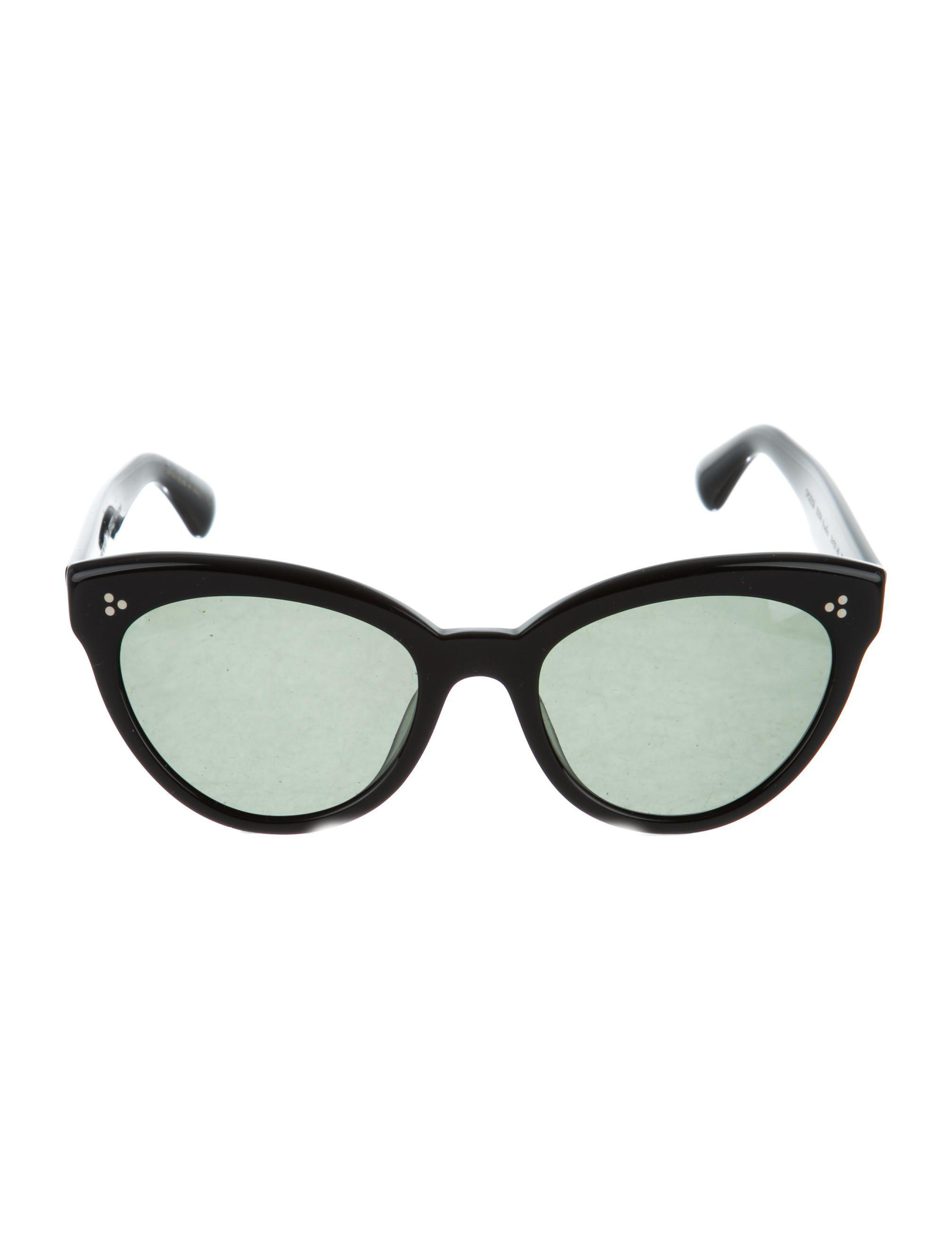 b9870ef43e Lyst - Oliver Peoples Roella Cat-eye Sunglasses in Black