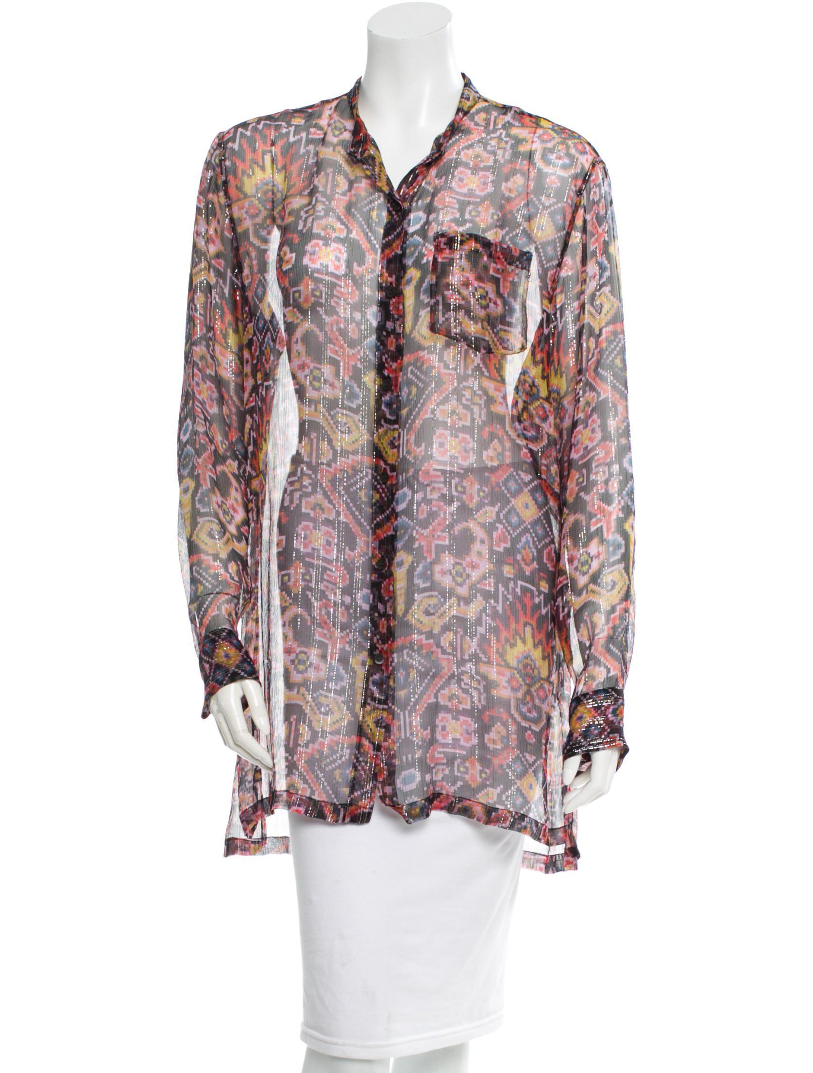 Dries Van Noten Sheer Silk Blouse w/ Tags Discount Best Prices Outlet Locations For Sale Huge Range Of Discount Fast Delivery w3fvuIP7Mp