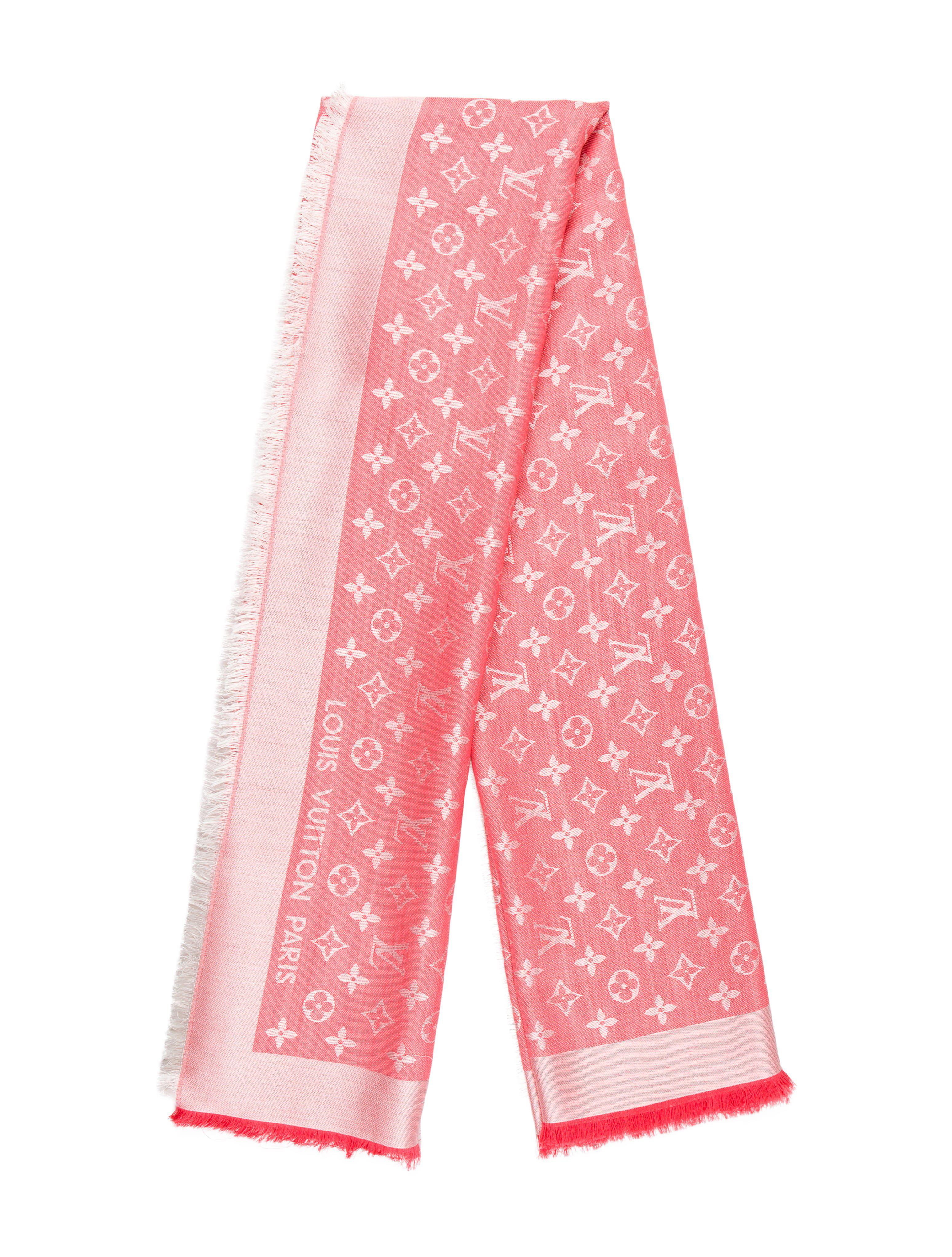 Lyst - Louis Vuitton Monogram Shawl in Pink 577303a6e05