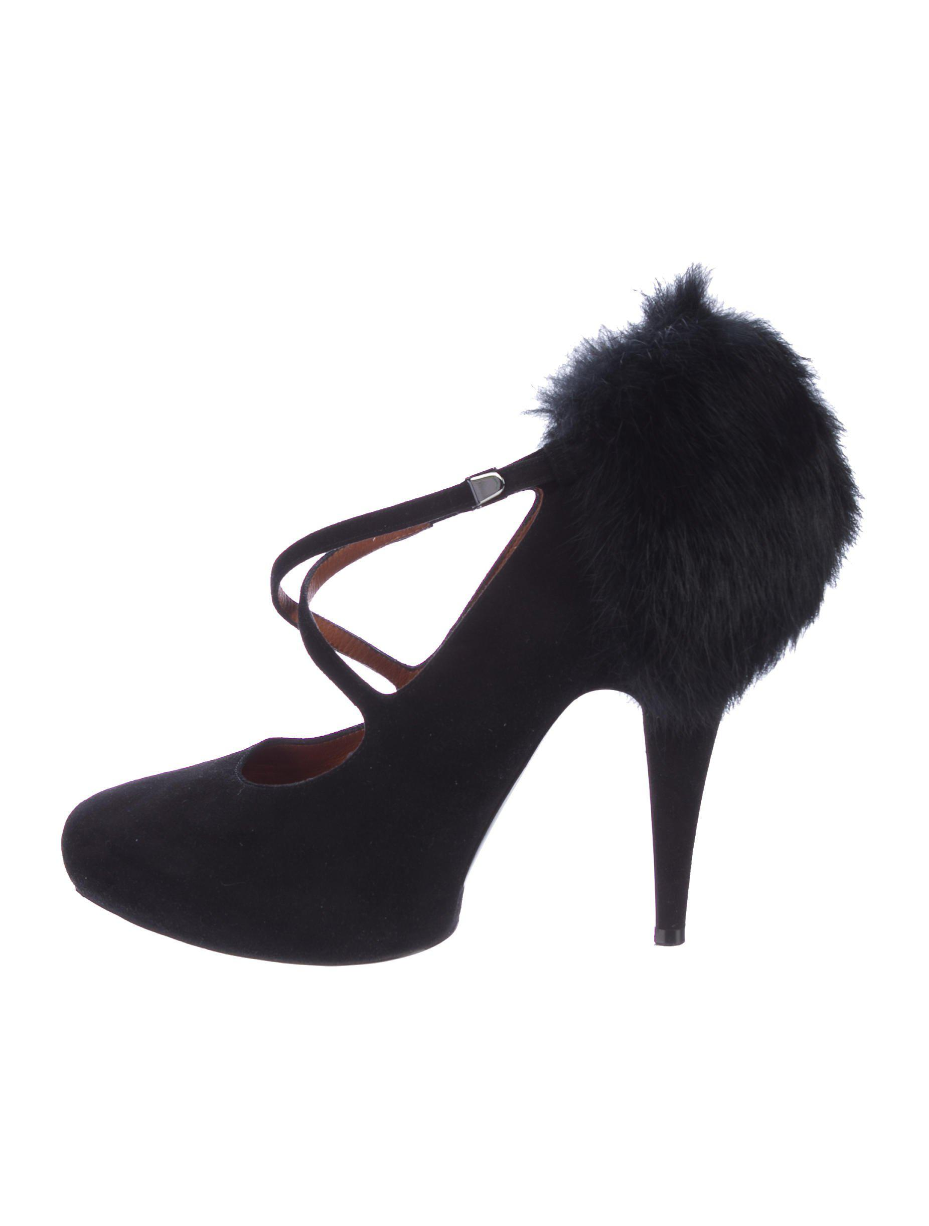 Givenchy Mink-Trimmed Suede Pumps looking for cheap price shipping discount authentic Yyui2KG