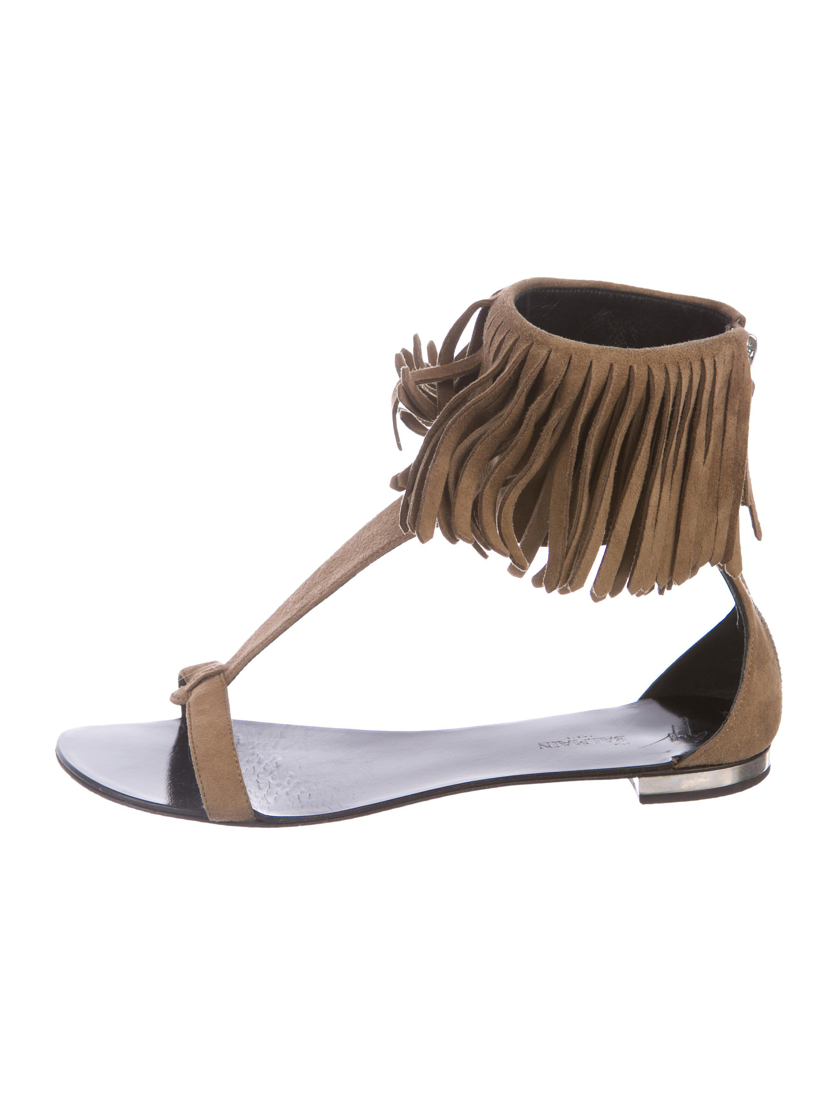 Flat shoes suede suede Fringe Logo Strass black gold Giuseppe Zanotti mzTvf
