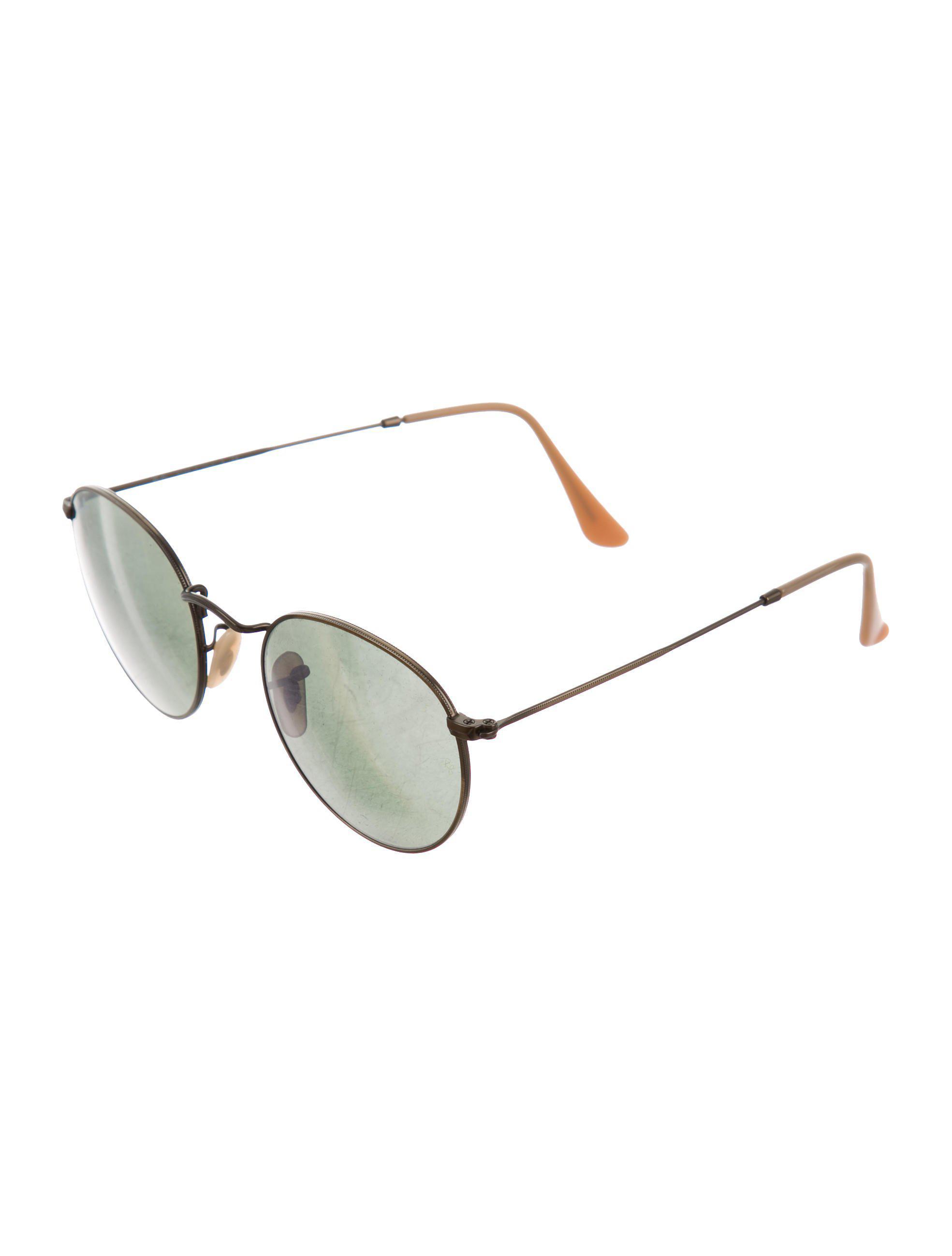 ebc87ca65b1a4 Ray-Ban - Metallic Round Mirrored Sunglasses Bronze - Lyst. View fullscreen