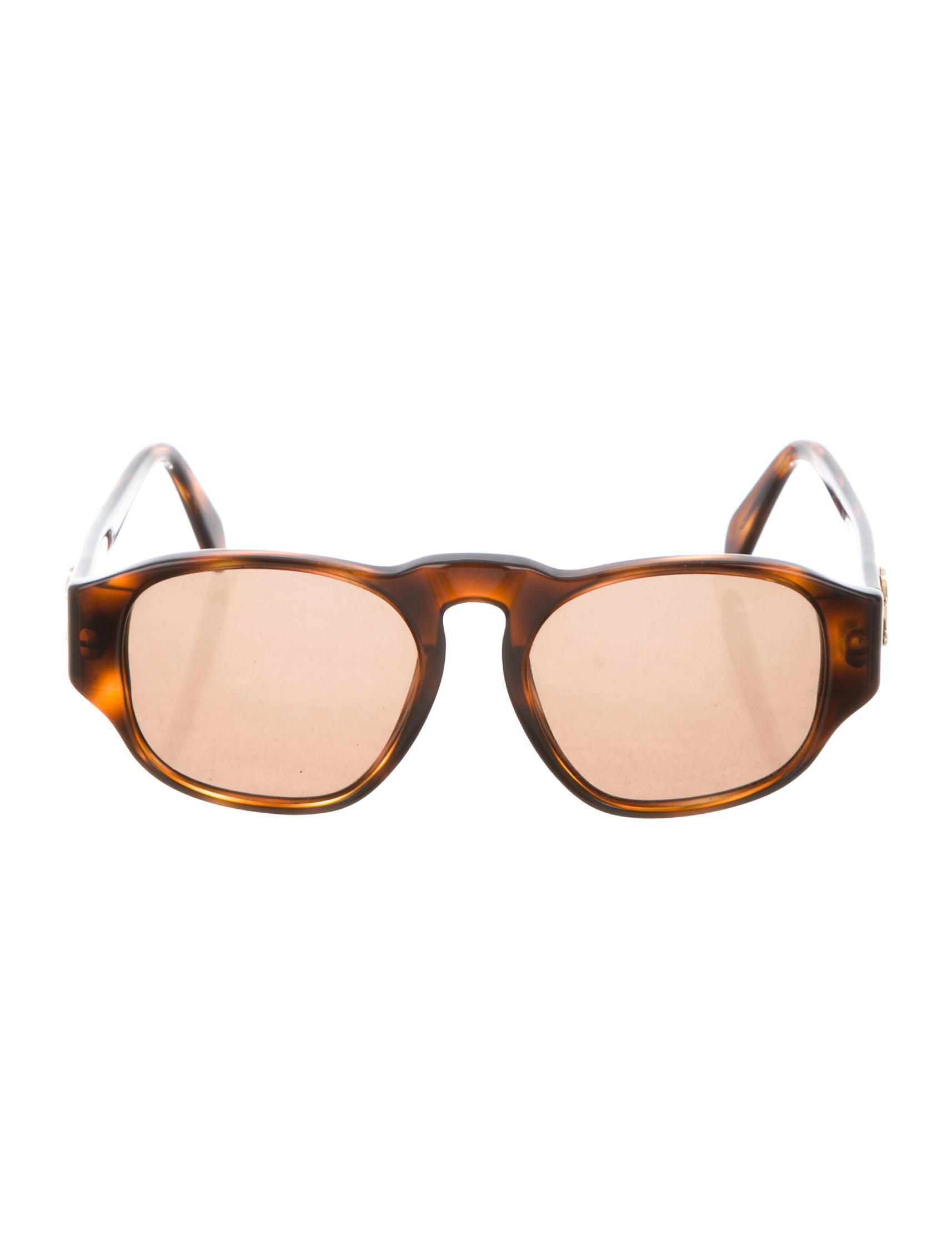 d8ce4fda669 Lyst - Chanel Vintage Cc Sunglasses Brown in Metallic
