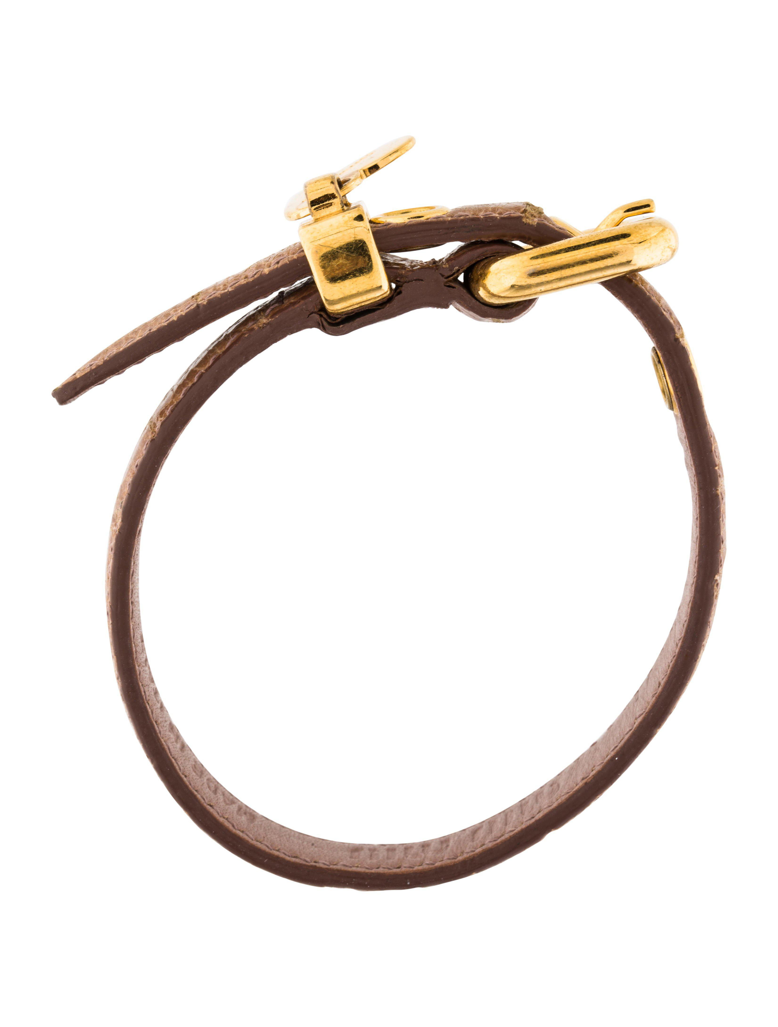 miu gold lyst in leather metallic wrap bracelet jewelry