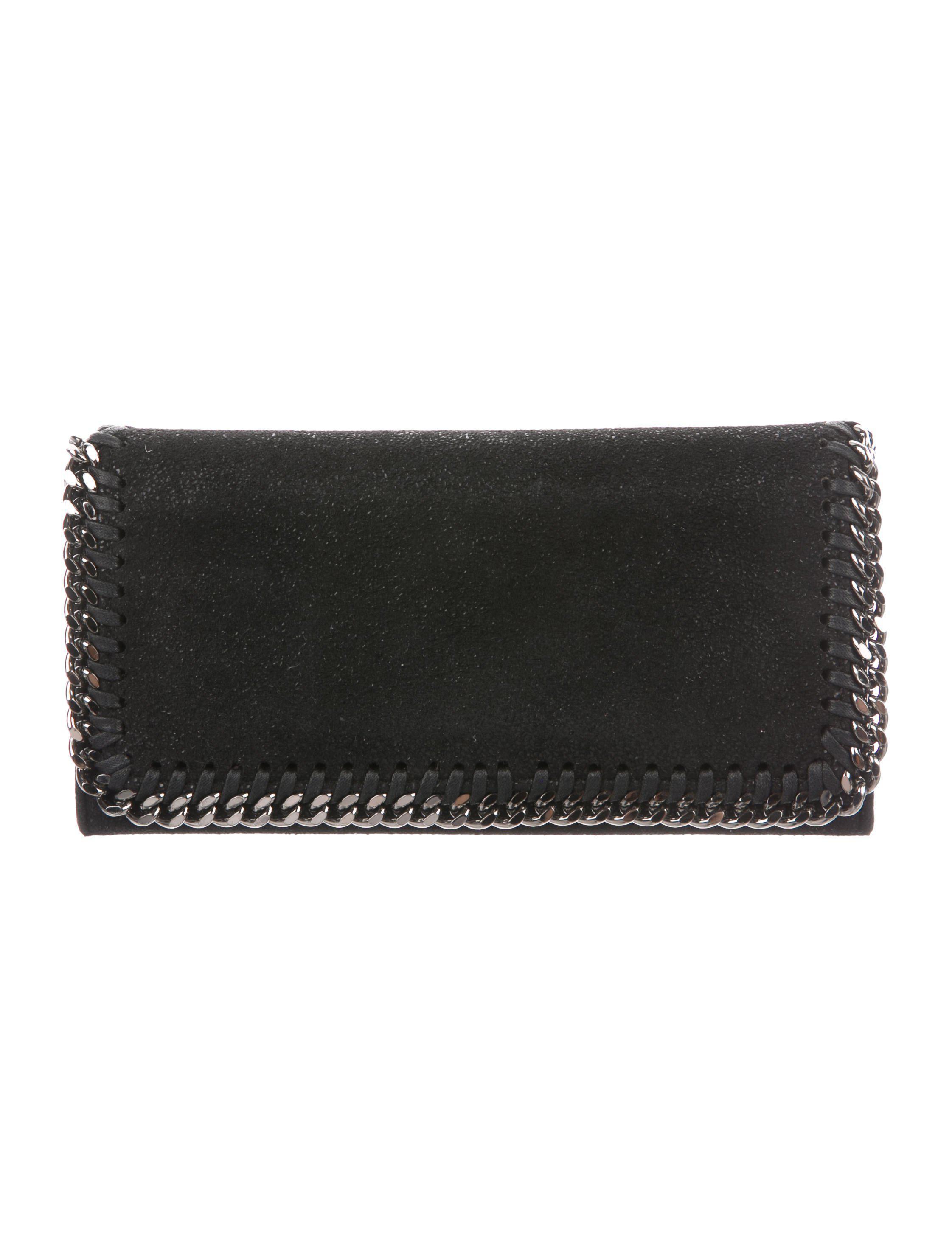 974b00744c1f Lyst - Stella Mccartney Falabella Shaggy Deer Flap Wallet in Black