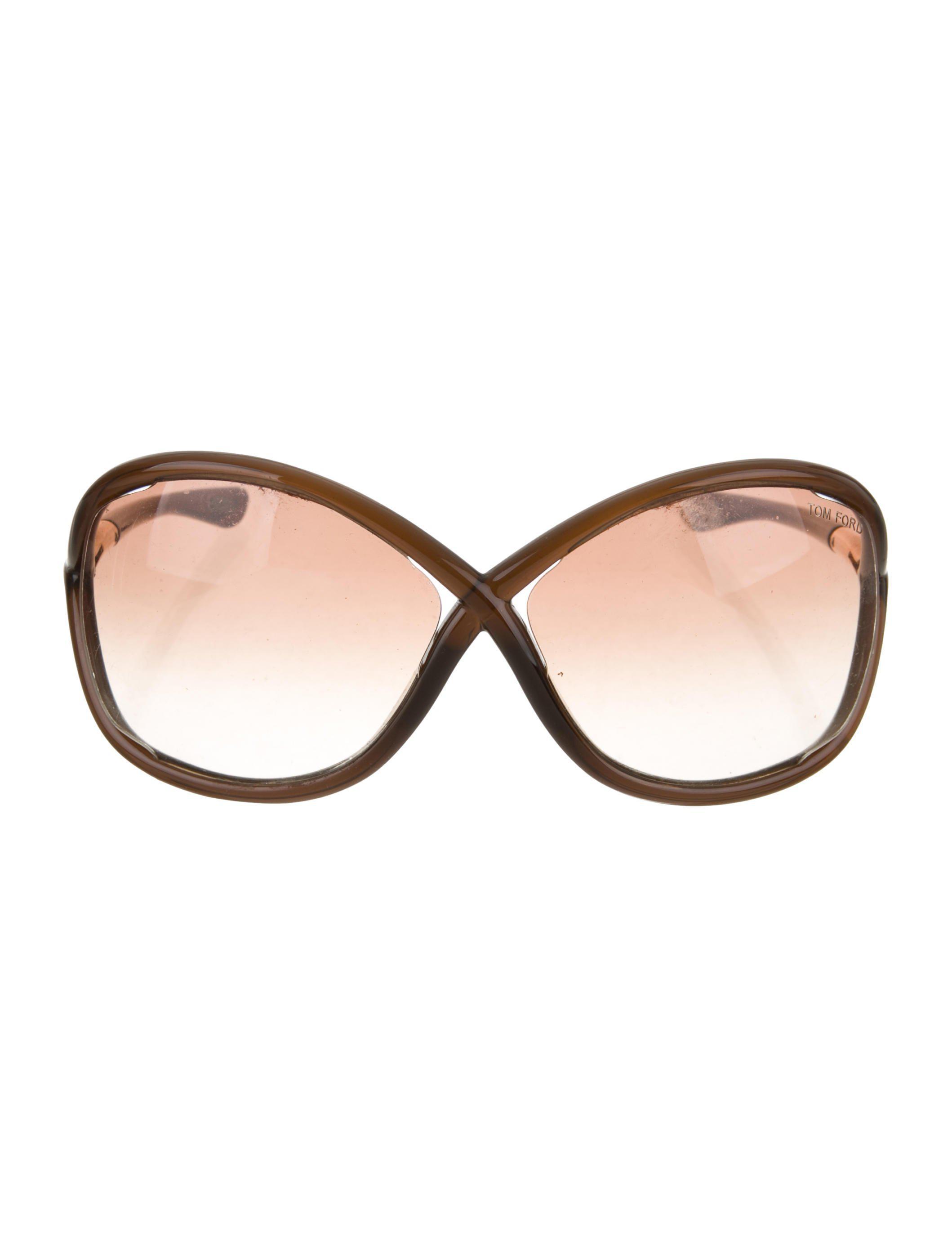 60f854bcef Tom Ford - Metallic Whitney Gradient Sunglasses Transparent - Lyst. View  fullscreen