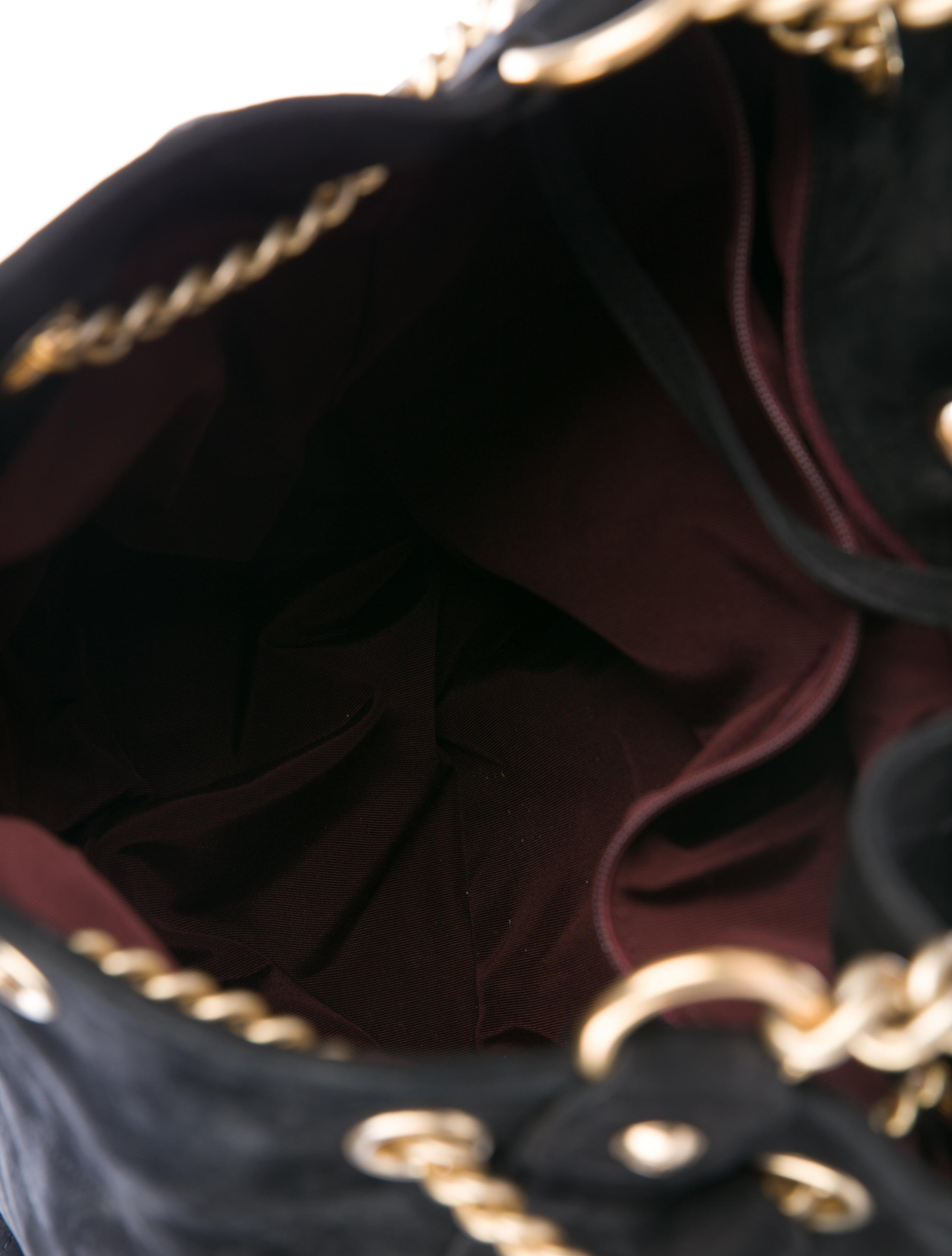 e5f4ee379ee6 Chanel - Metallic 2016 Large On My Shoulder Bucket Bag Black - Lyst. View  fullscreen