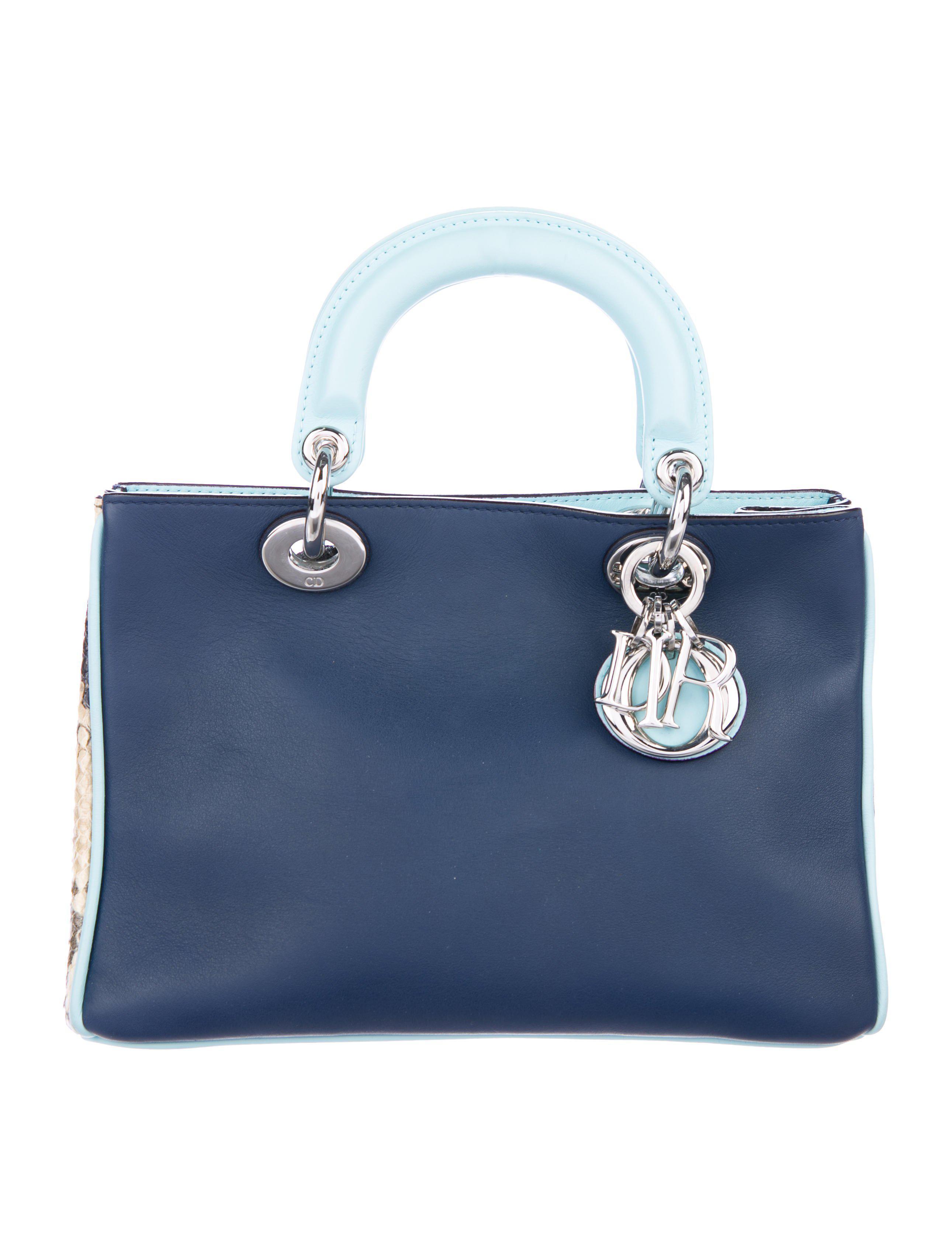 032486b42e71 Lyst - Dior Small Diorissimo Bag Blue in Metallic