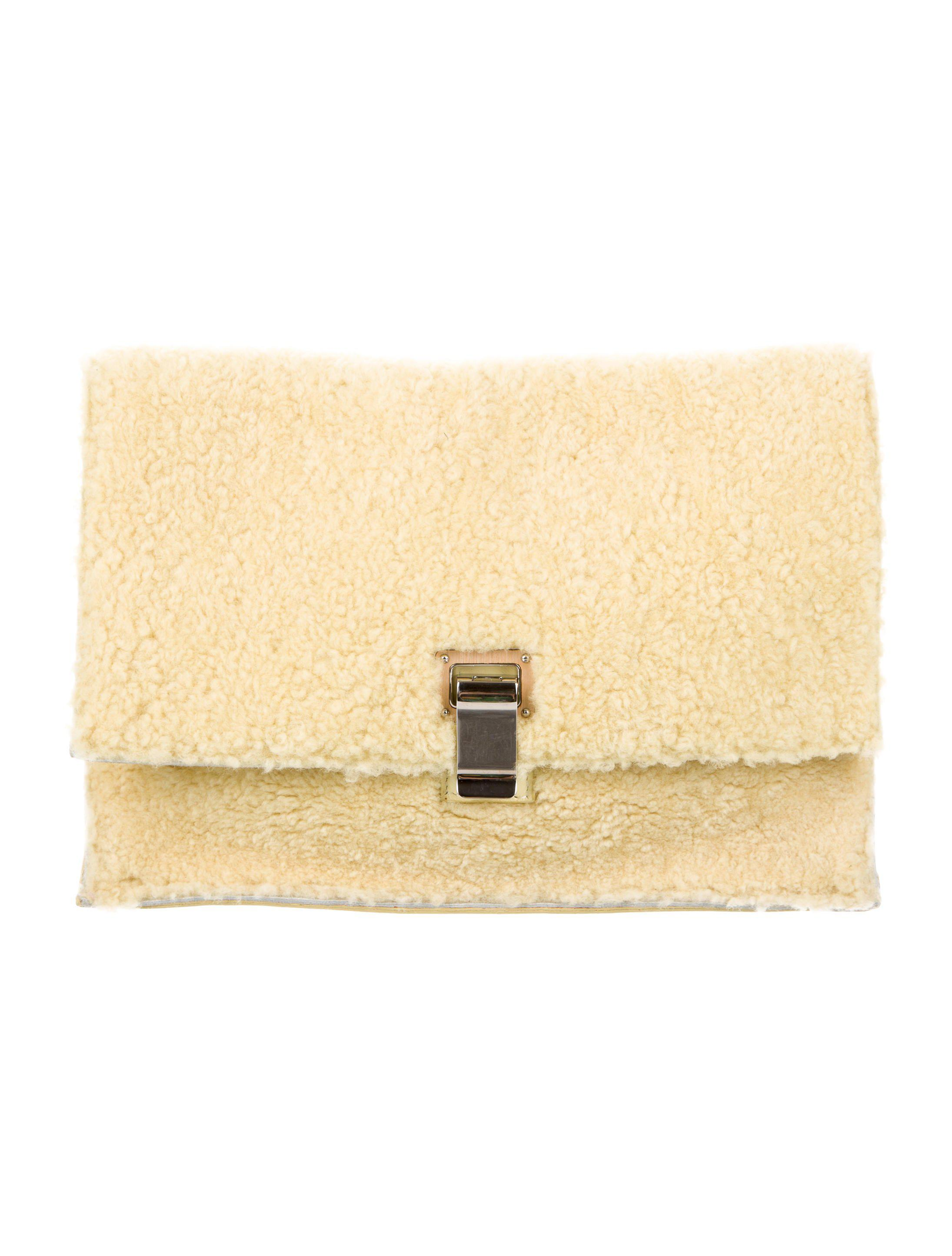 Proenza Schouler Pre-owned - Lunch shearling clutch bag F6Lw0e