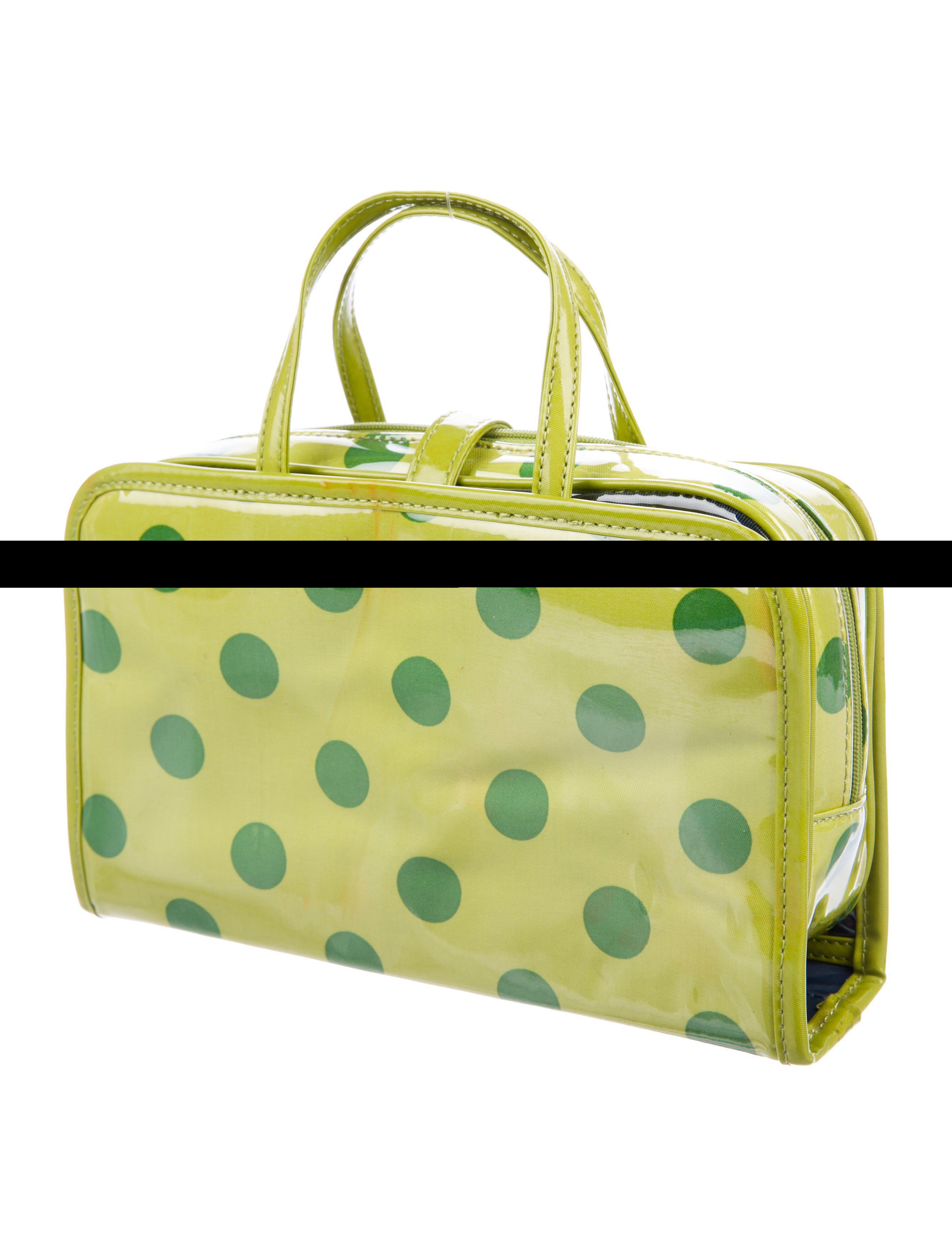 b60143c0f0 Kate Spade - Metallic Small Manuela Cosmetic Case Lime - Lyst. View  fullscreen