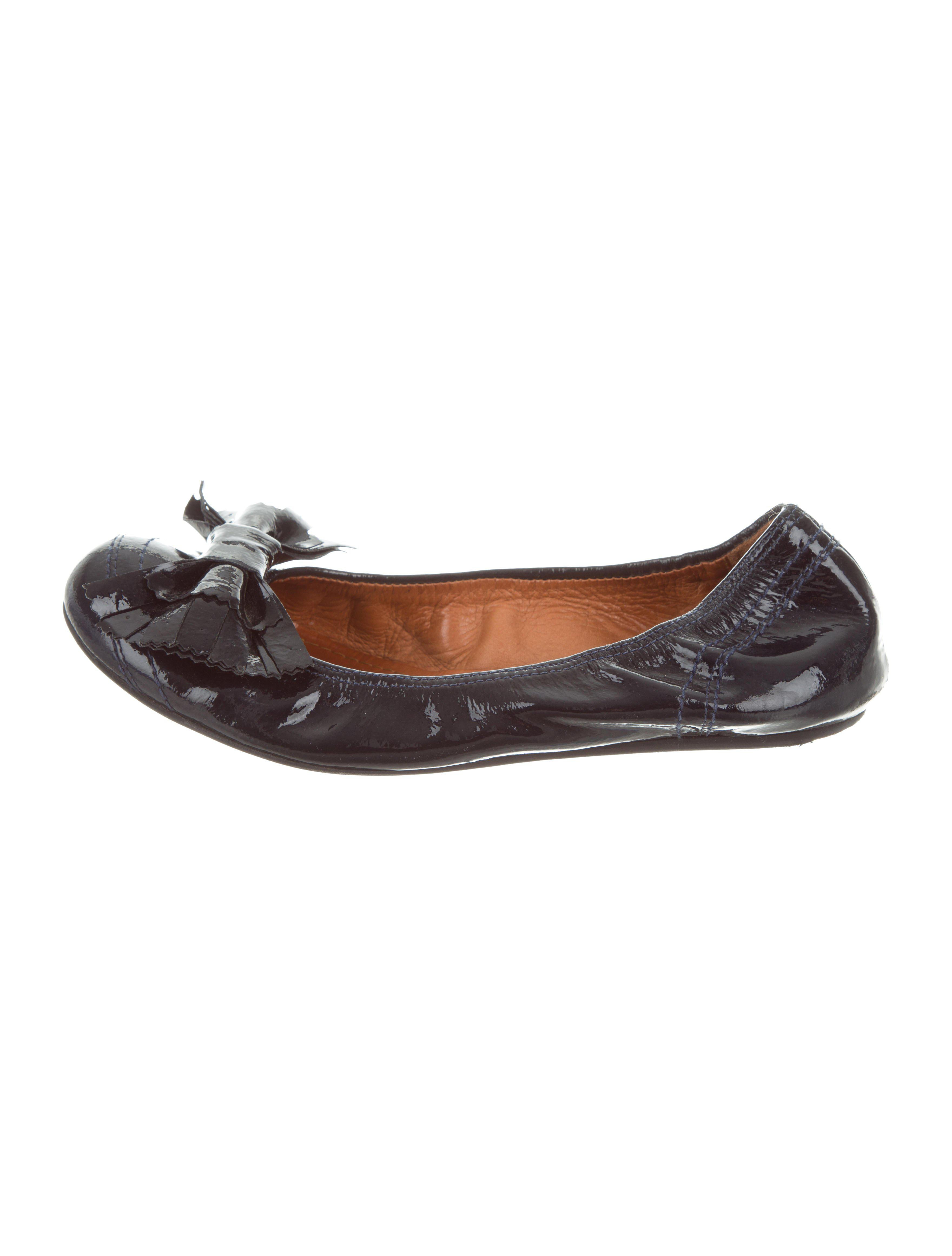 outlet extremely Lanvin Patent Round-Toe Flats how much online buy cheap buy marketable raqsEraOD4