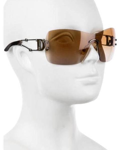 17b24c7e876b Lyst - Dior Rimless Gradient Sunglasses in Brown