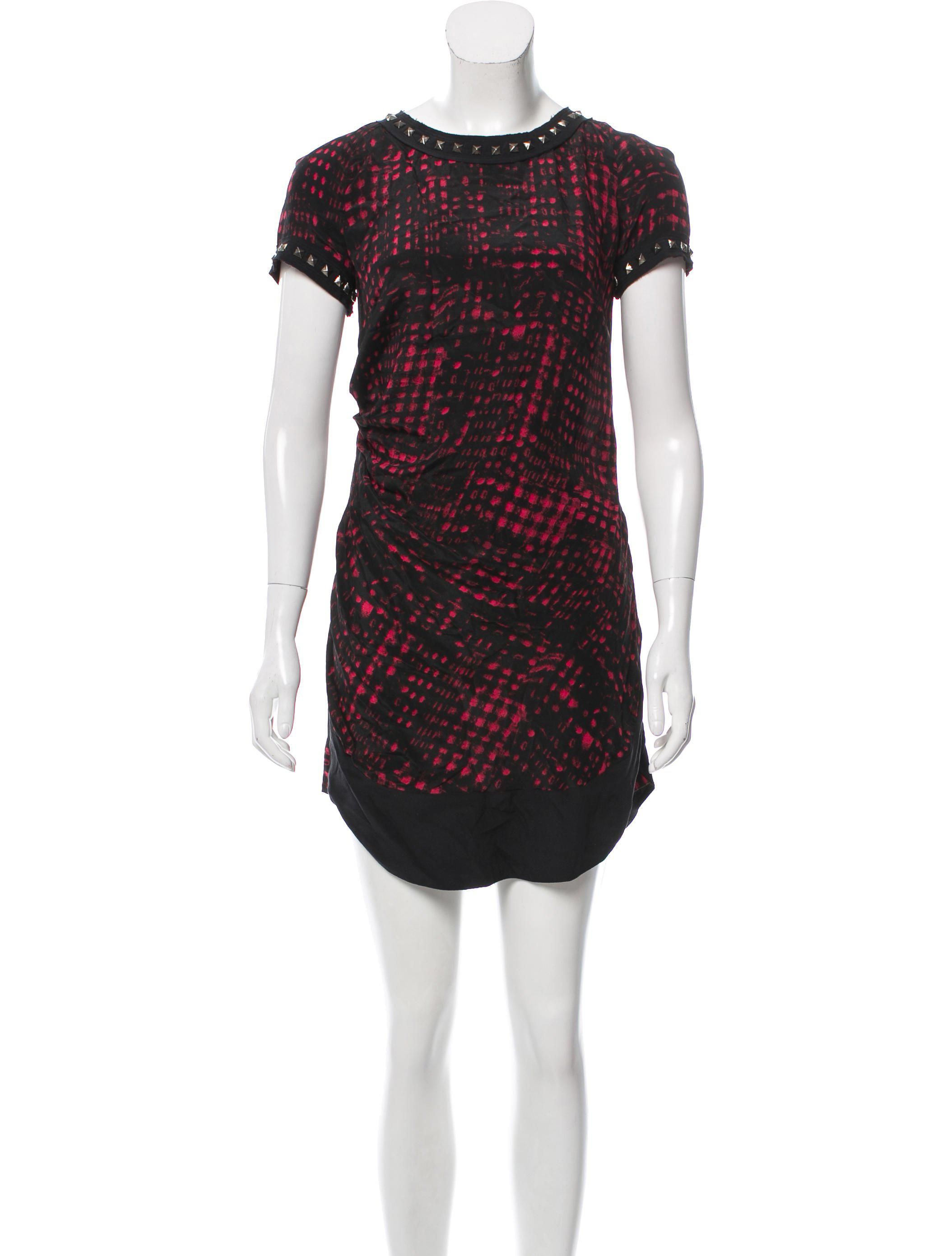 0e907497999 Lyst - Étoile Isabel Marant Studded Silk Dress W  Tags in Red