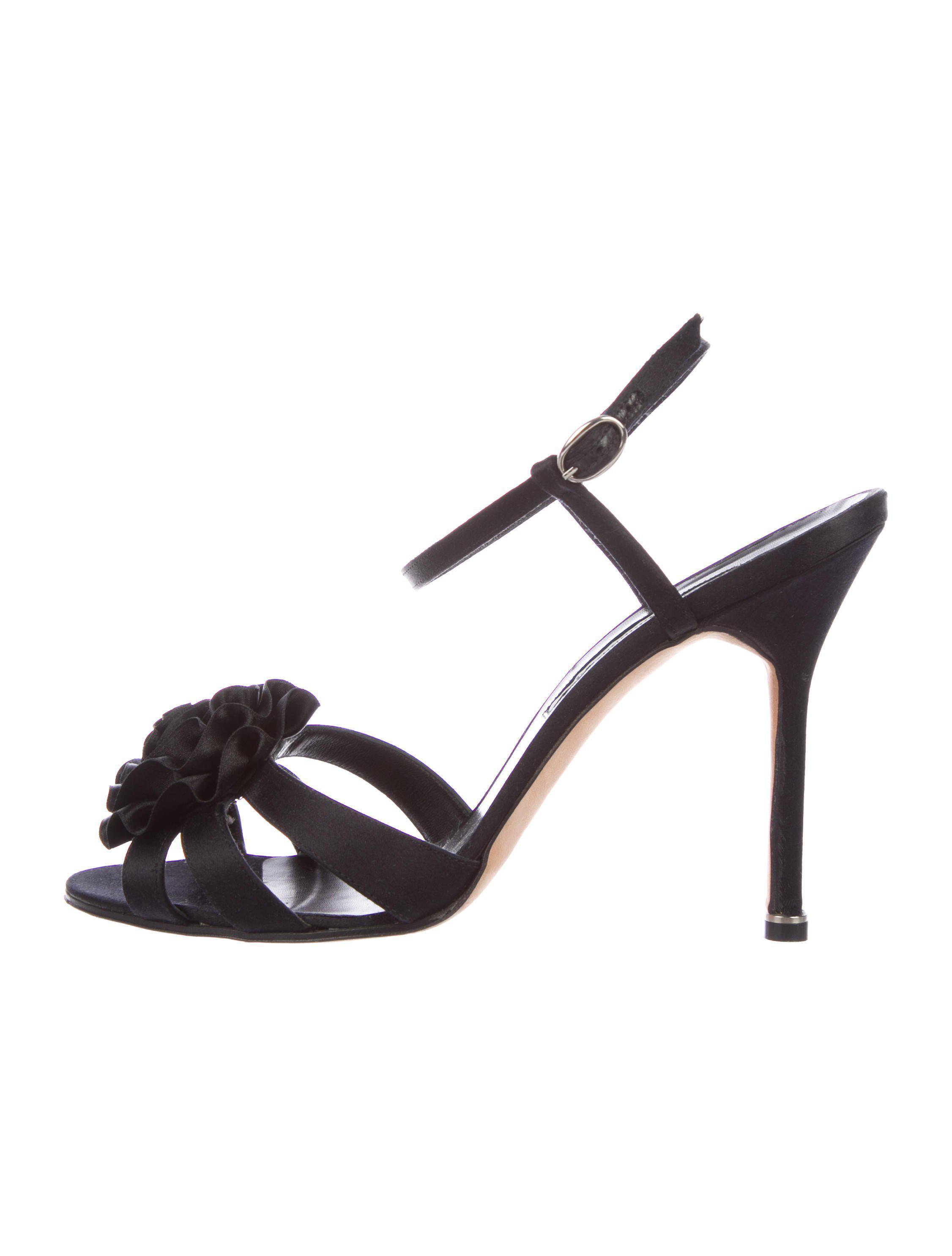 Manolo Blahnik Satin Multistrap Sandals discount genuine cheap Manchester sale shop zoIiEt