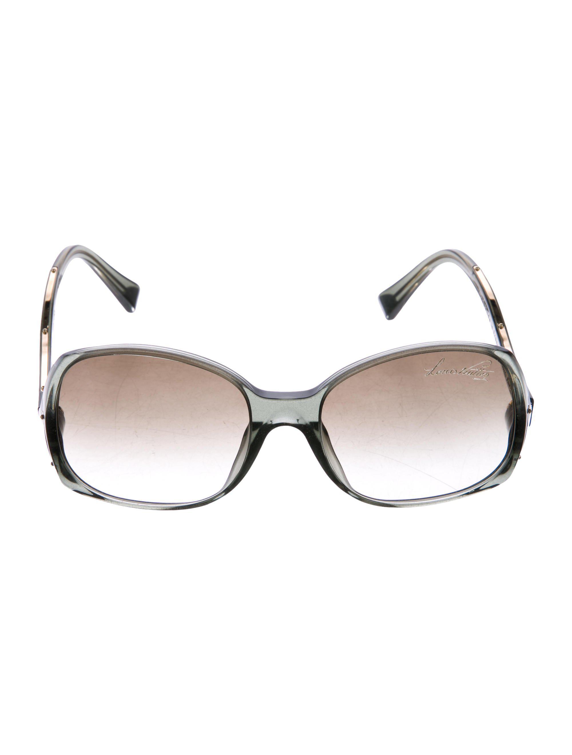 12078fa256e9 Lyst - Louis Vuitton Gina Glitter Sunglasses Grey in Gray