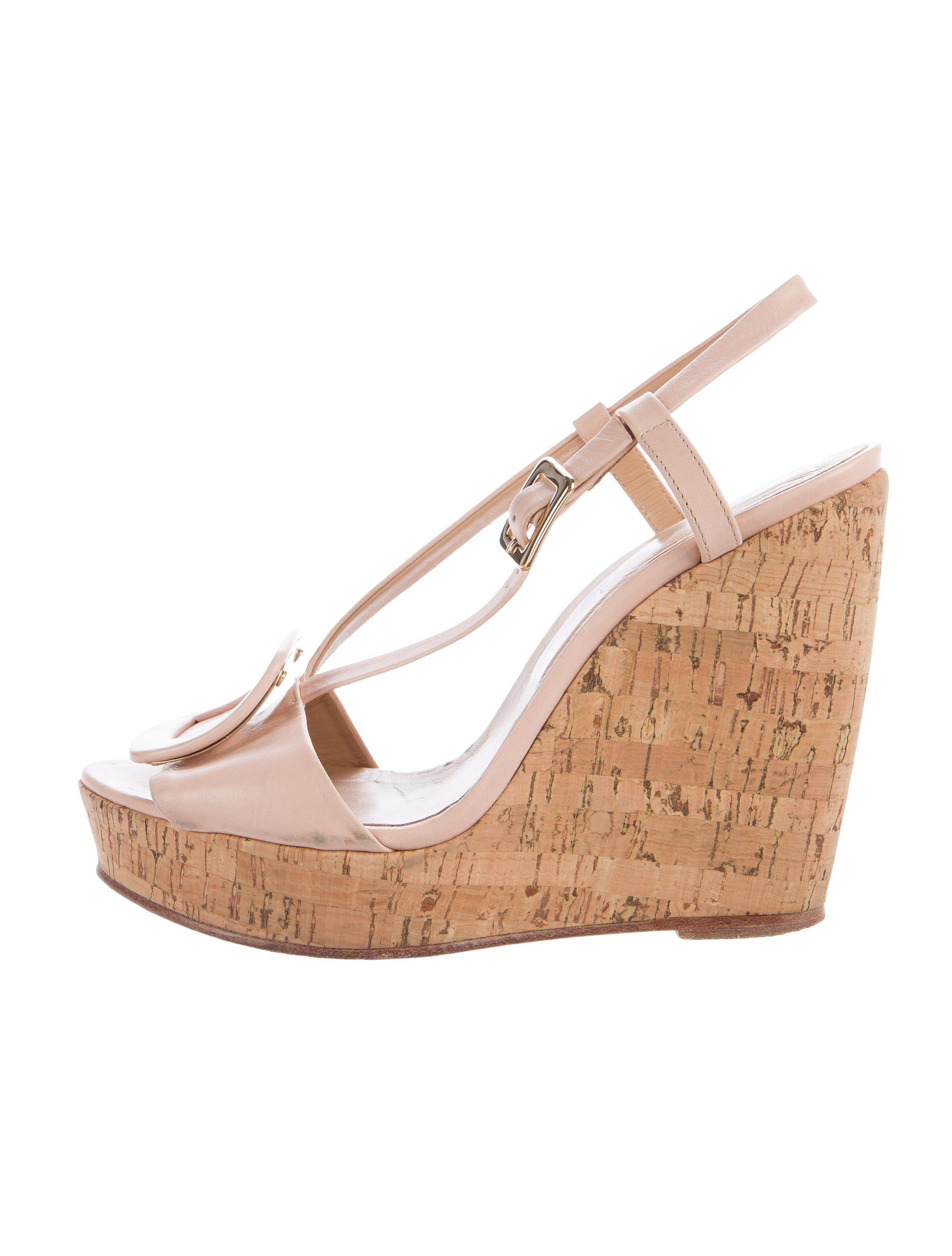 Roger Vivier Buckle-Accented Wedge Sandals cheap sale low shipping cheap online shop clearance view 2lqKy