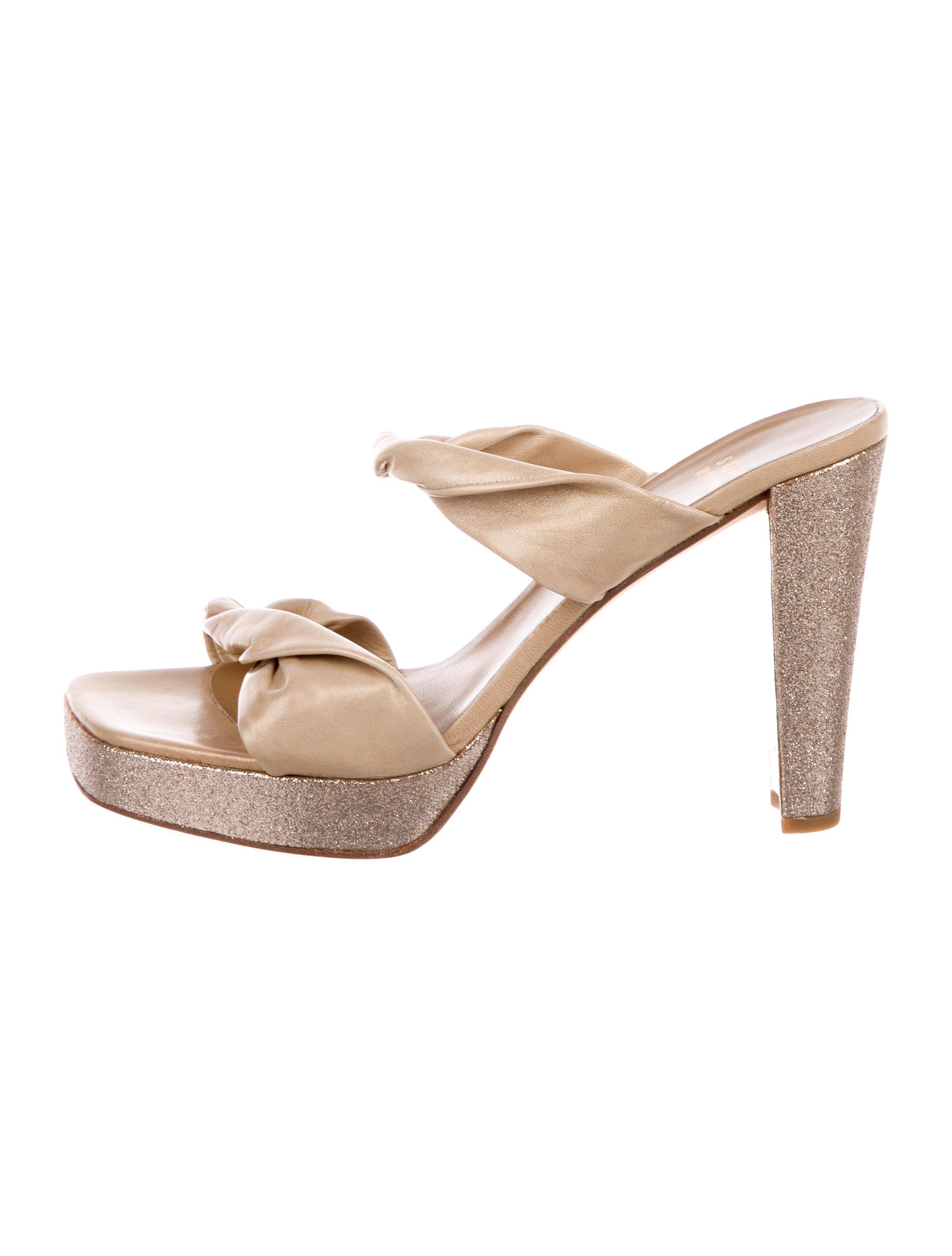 Stuart Weitzman DoTheTwist Platform Slide Sandals clearance get to buy dlikjpc95