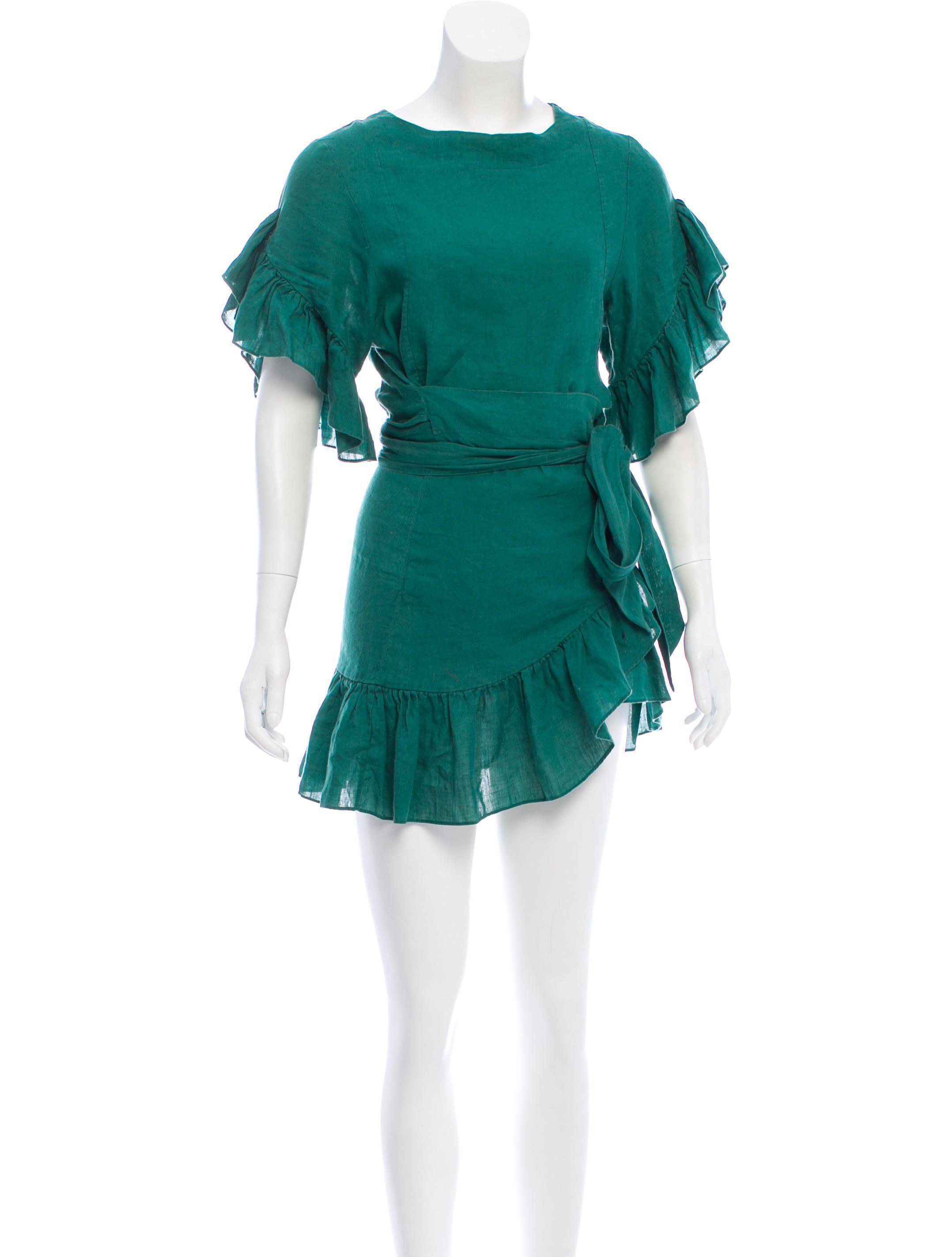 fc8631b27d Lyst - Étoile Isabel Marant Ruffle-trimmed Mini Dress in Green