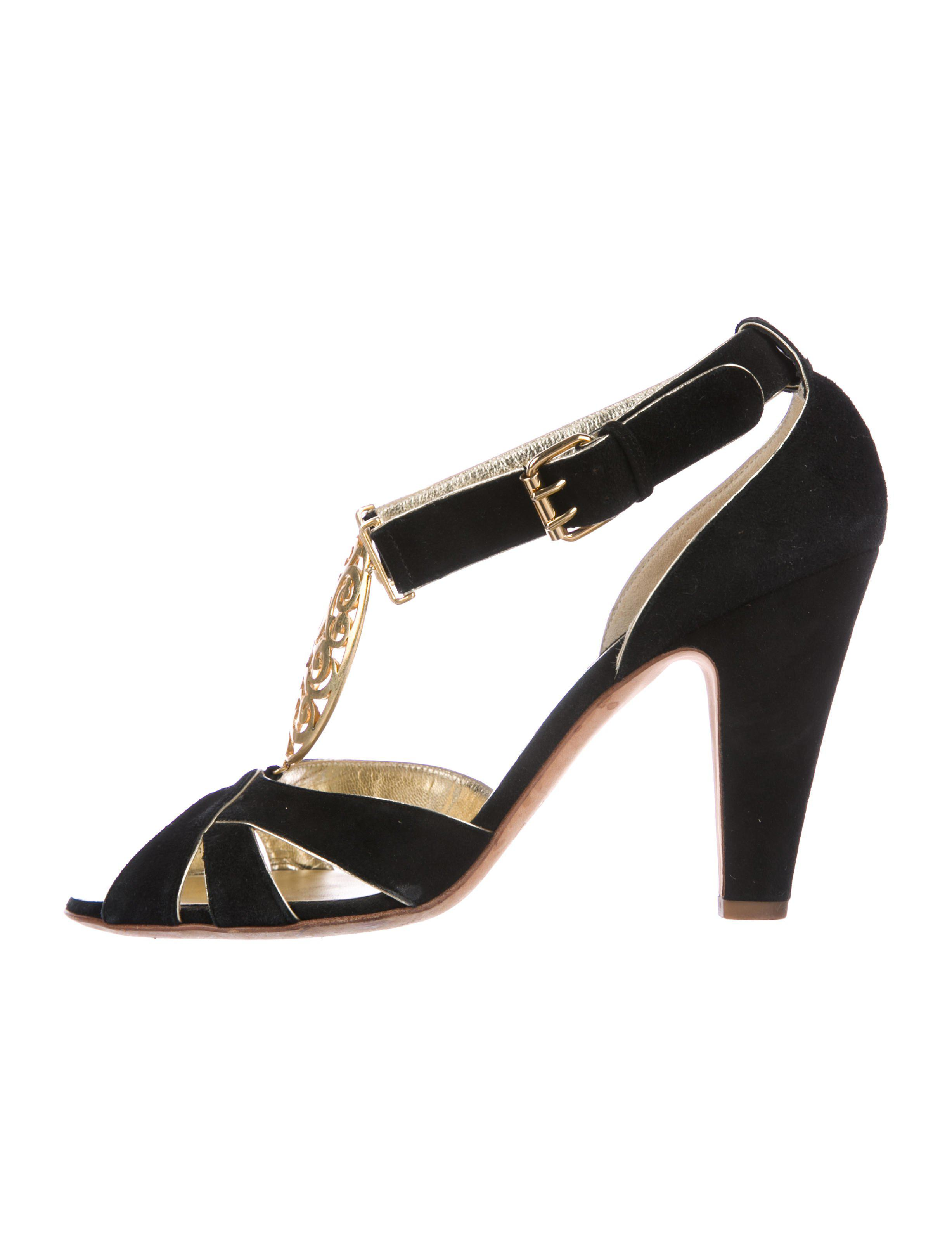 794bd4069ed Lyst - Giuseppe Zanotti Embellished Suede Sandals Black in Metallic