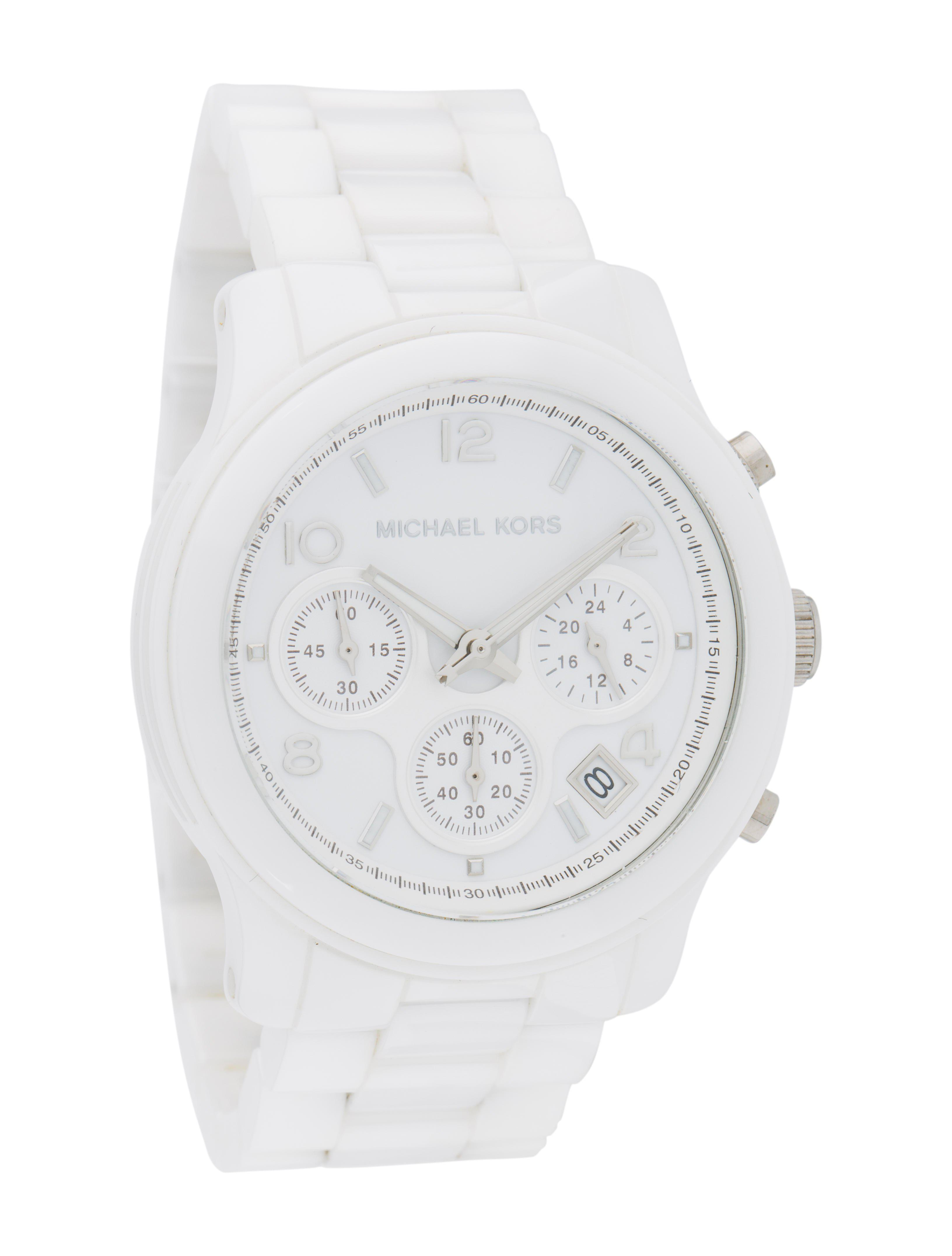006fb5a9542b Michael Kors - Metallic Runway Watch White - Lyst. View fullscreen