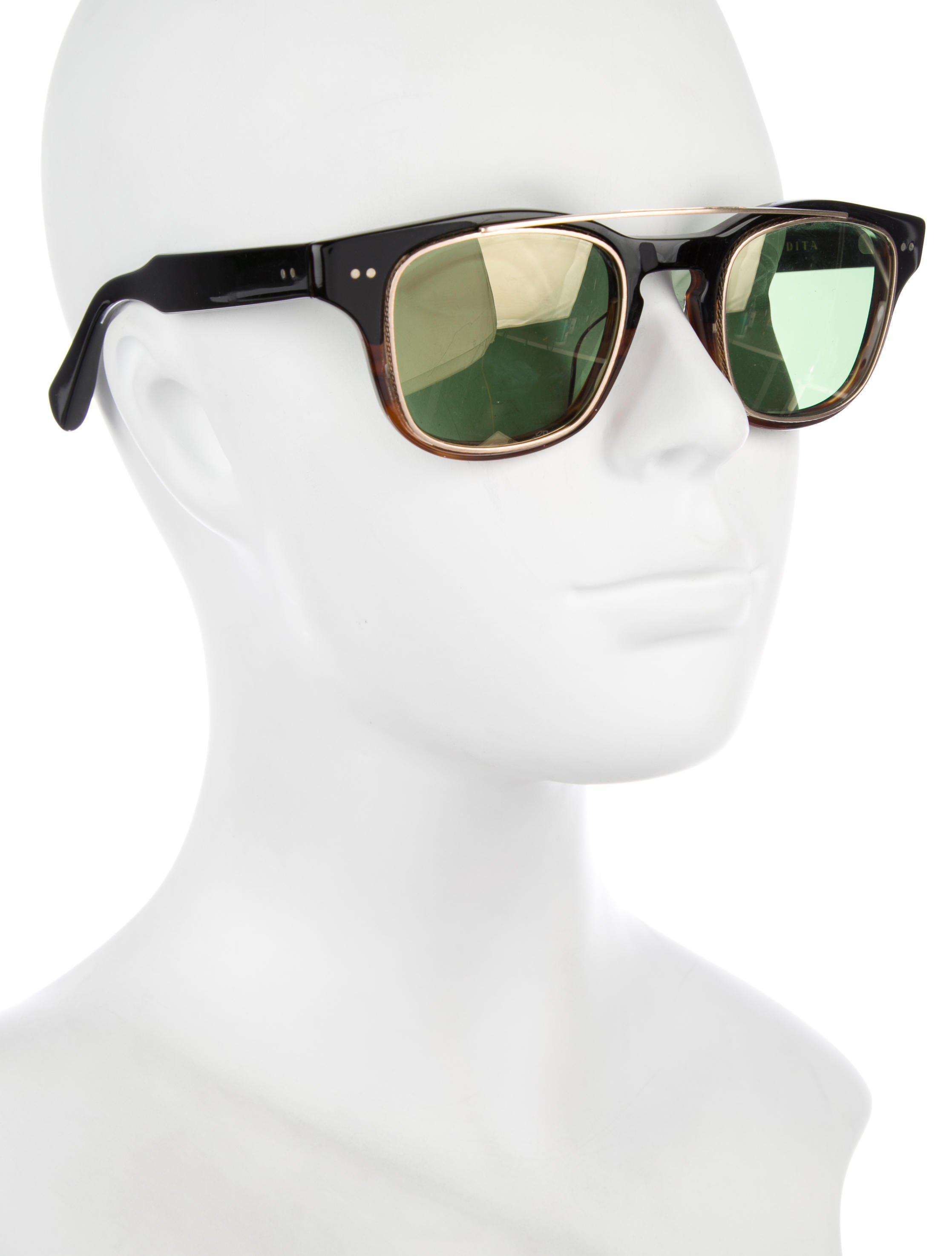 d506340ecaf Lyst - Dita Kasbah Tinted Sunglasses Black in Metallic
