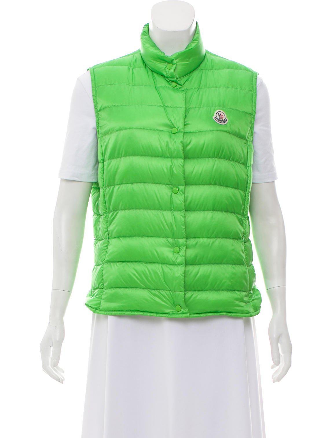 dad6474af Lyst - Moncler Liane Down Vest in Green