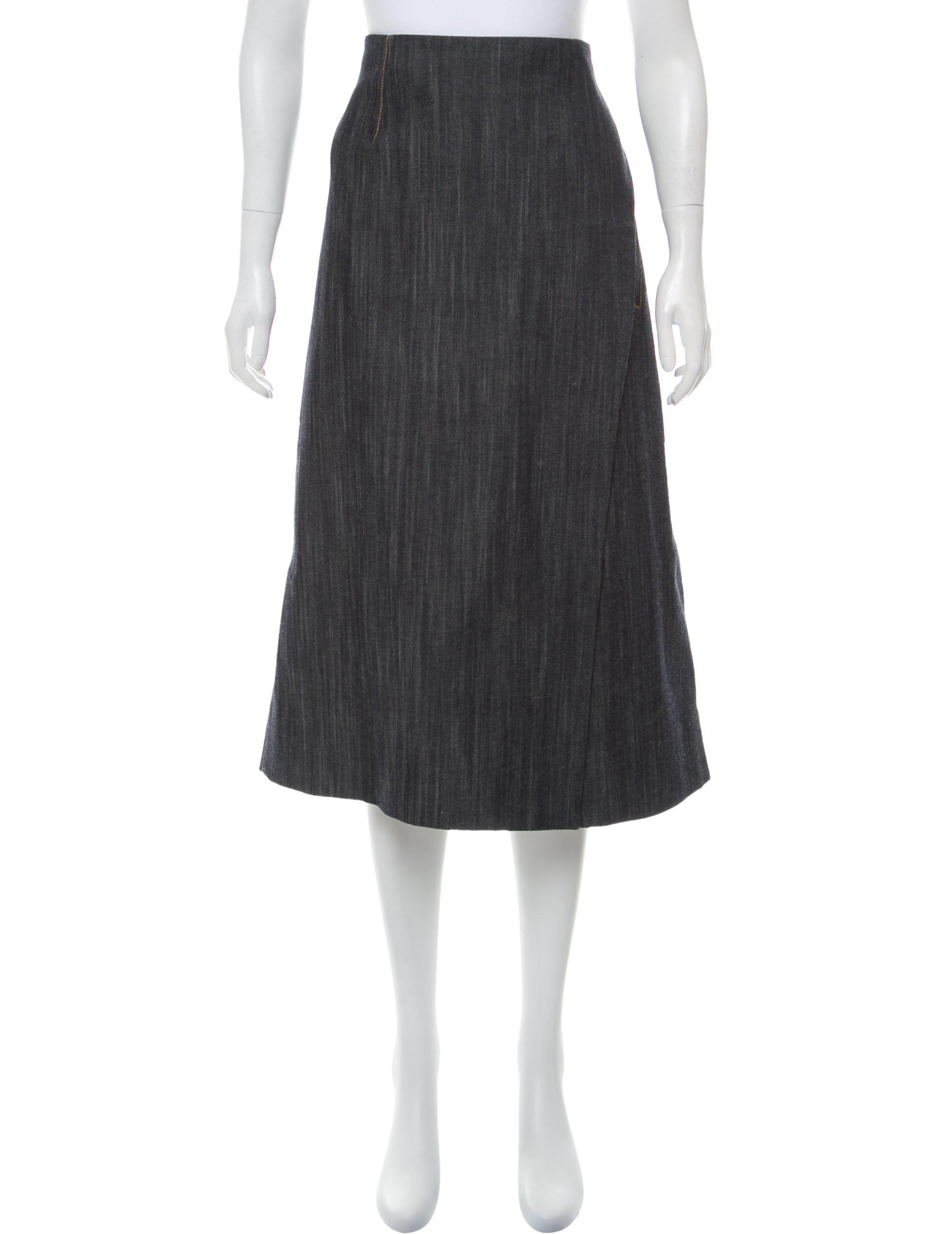 Adam Lippes Denim Midi Skirt w/ Tags Best Sale Cheap Price Clearance Explore Outlet 2018 Newest wMMGL