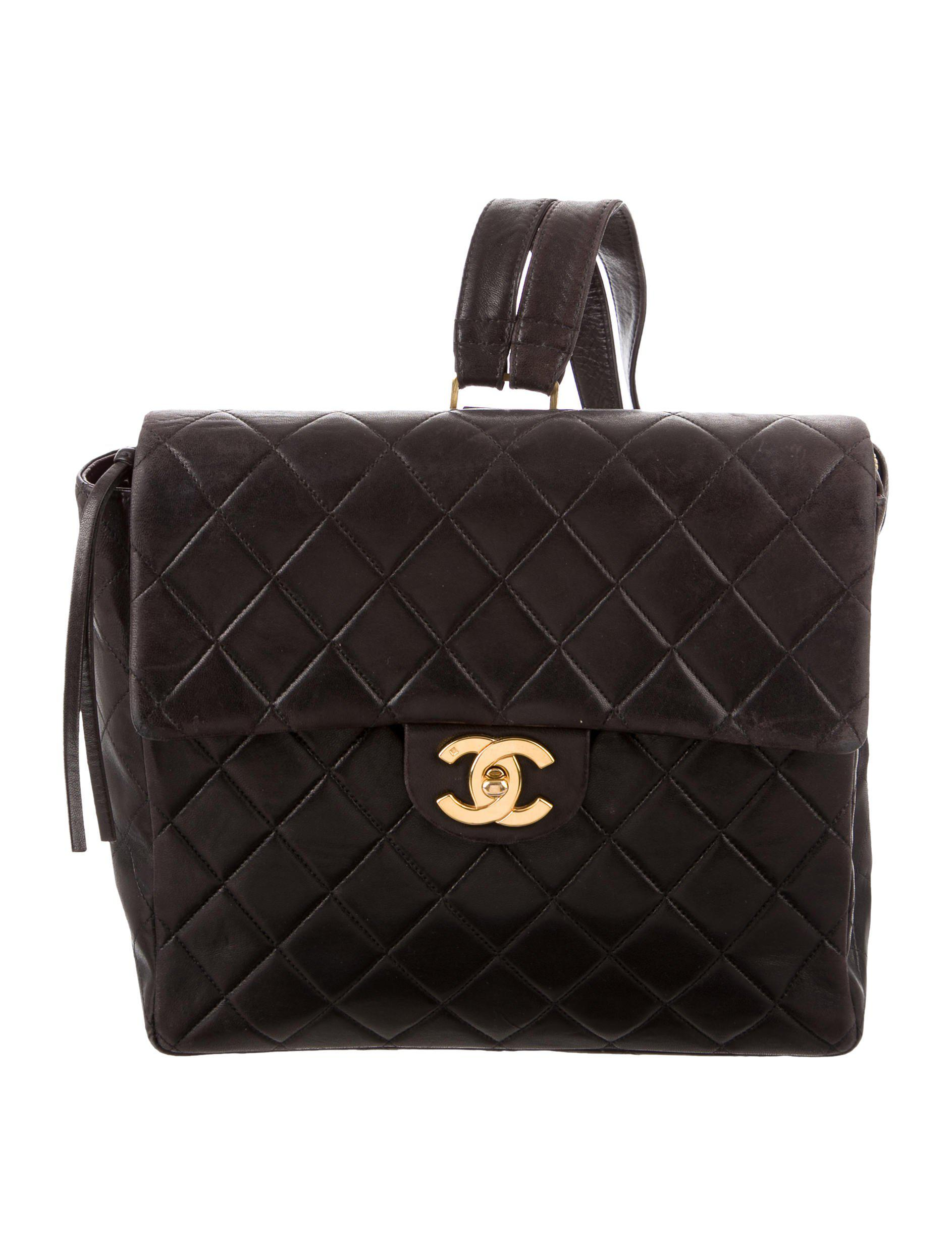 7d538f0ab0ea Vintage Chanel Backpack Quilted- Fenix Toulouse Handball
