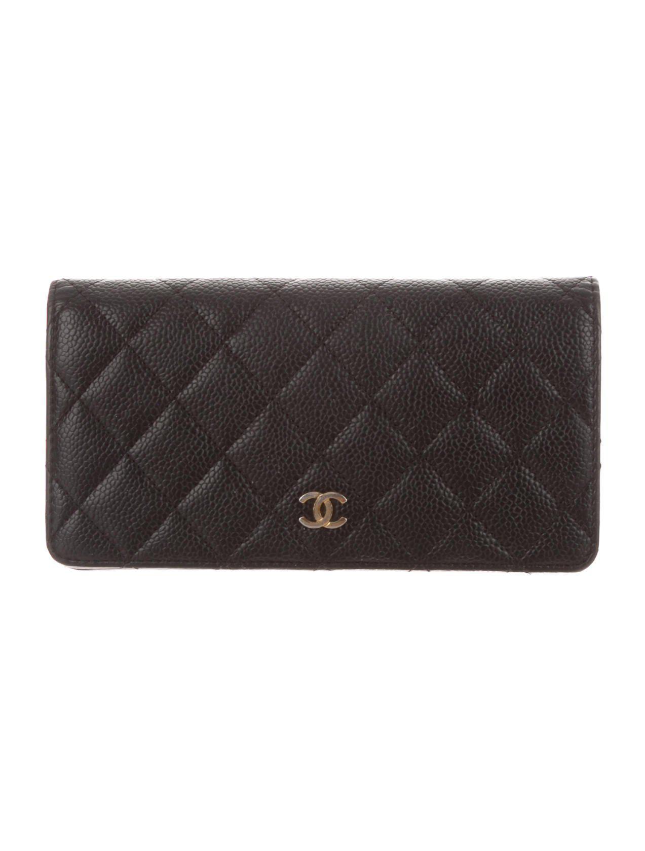 a831e6e9e1bd Chanel Caviar Quilted Yen Wallet Black - Image Of Wallet