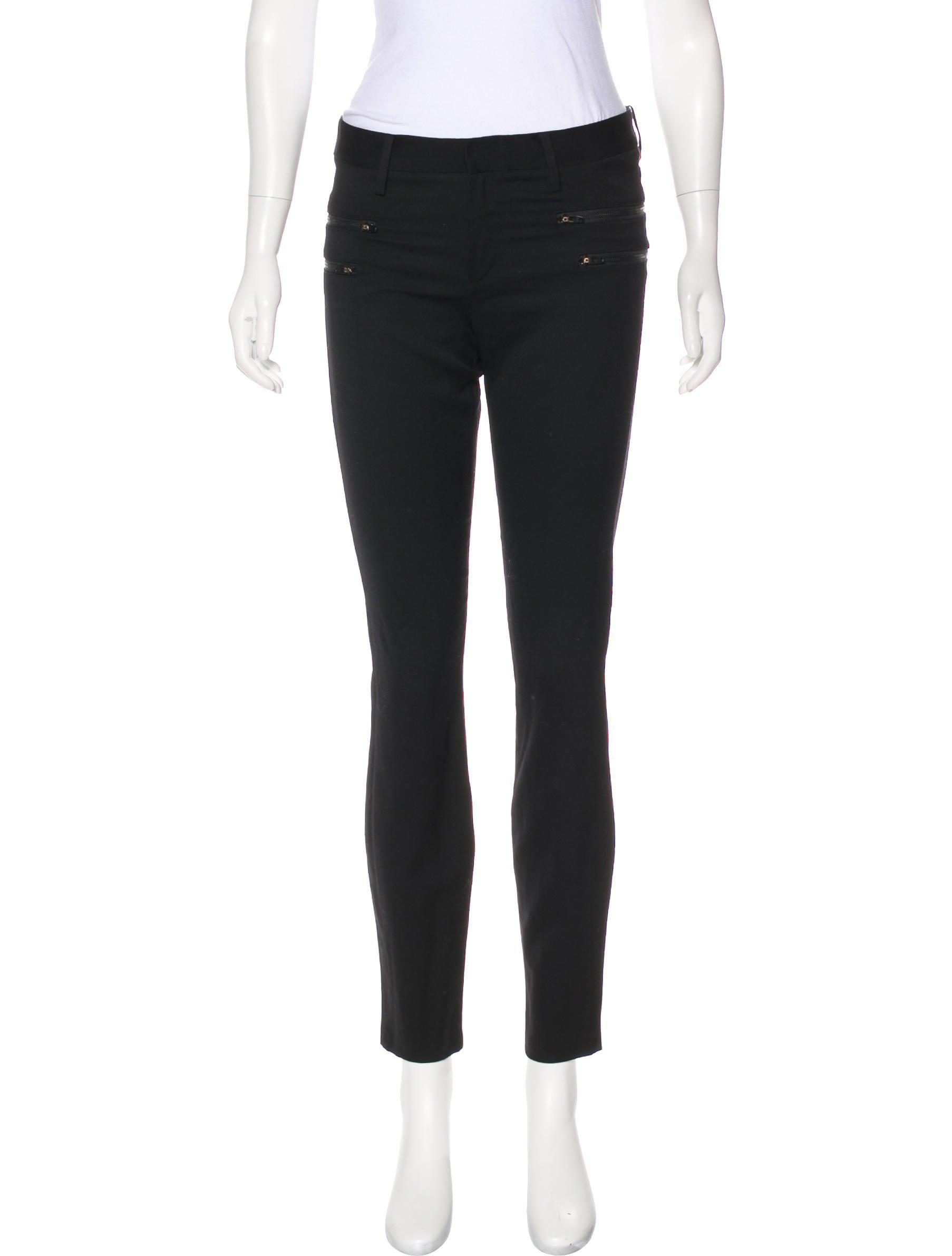 Helmut Lang Wool Mid-Rise Pants Professional Online Official From China Low Shipping Fee 63NueT4